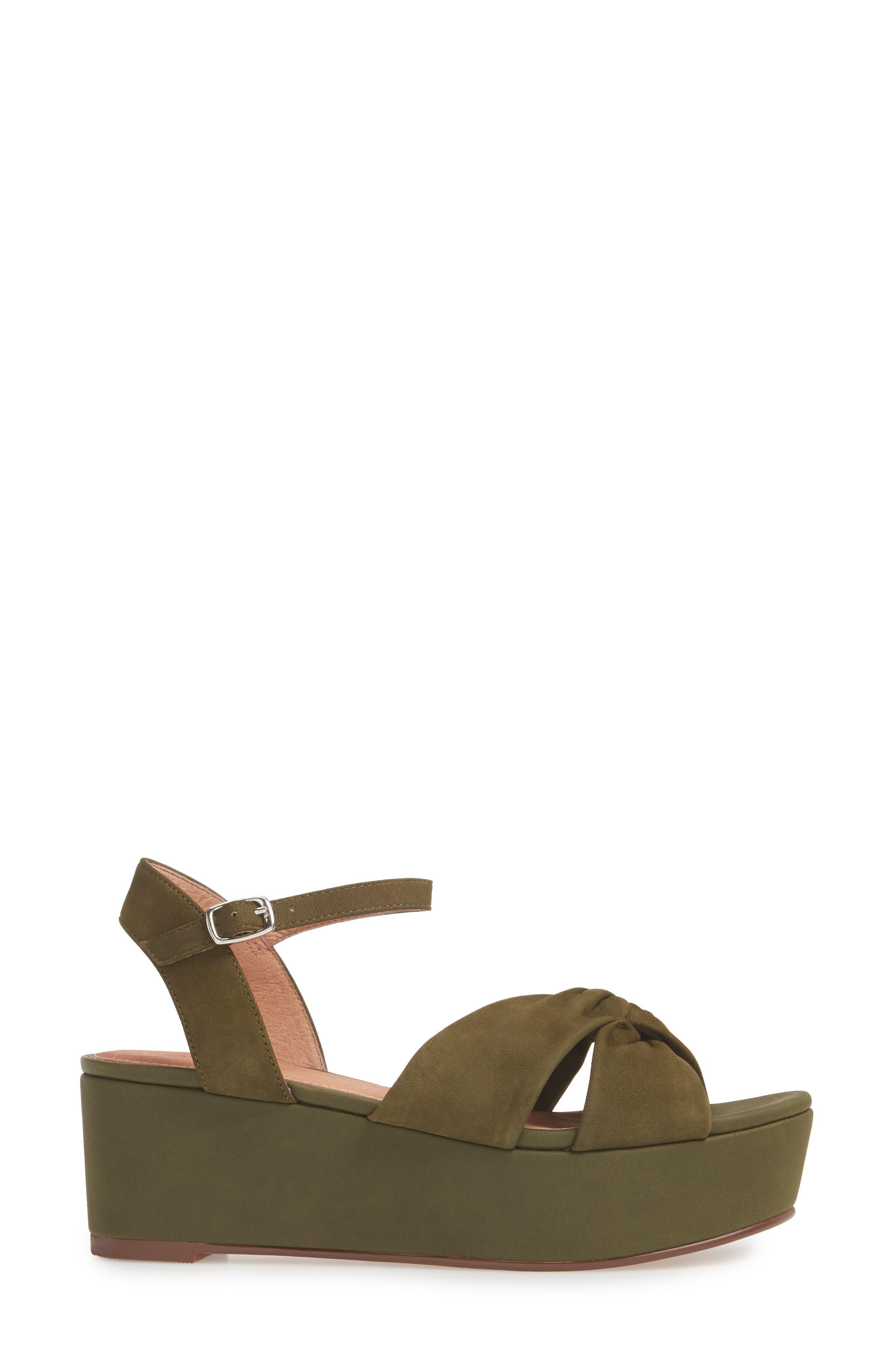 Ryder Platform Sandal,                             Alternate thumbnail 3, color,                             Olive Nubuck
