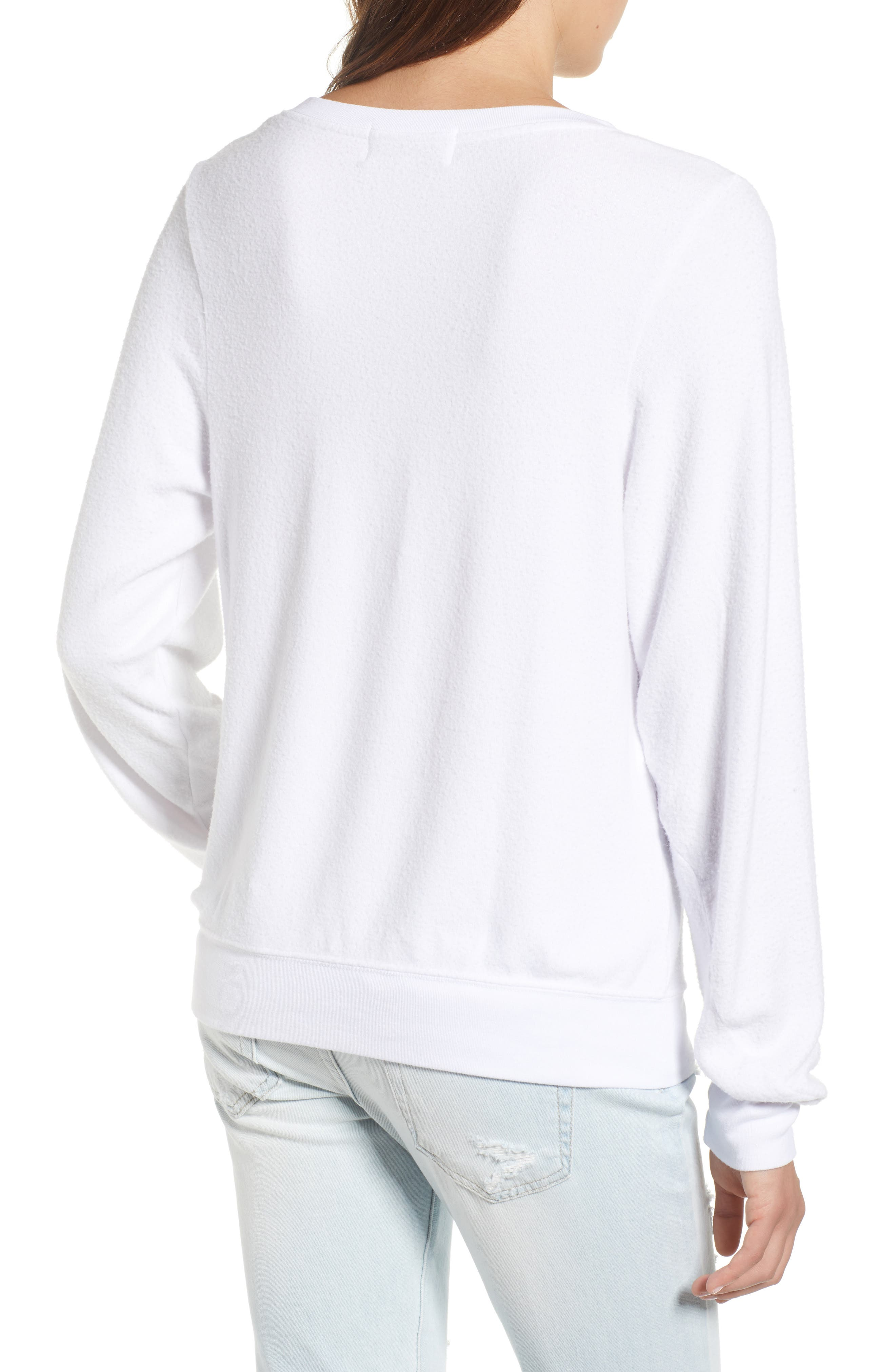 Globetrotter Baggy Beach Pullover,                             Alternate thumbnail 2, color,                             Clean White