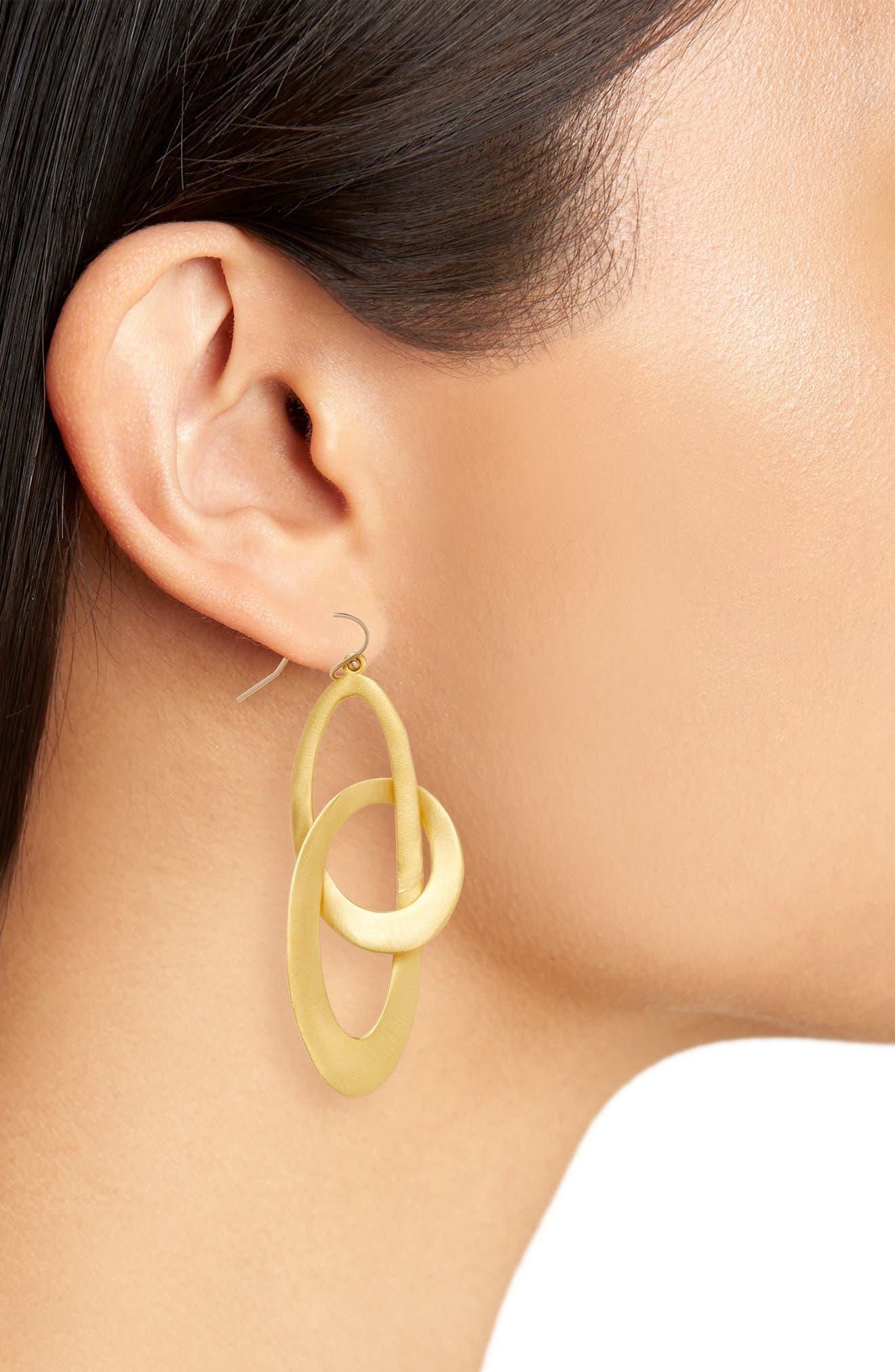 Duna Loop Drop Earrings,                             Alternate thumbnail 2, color,                             Gold