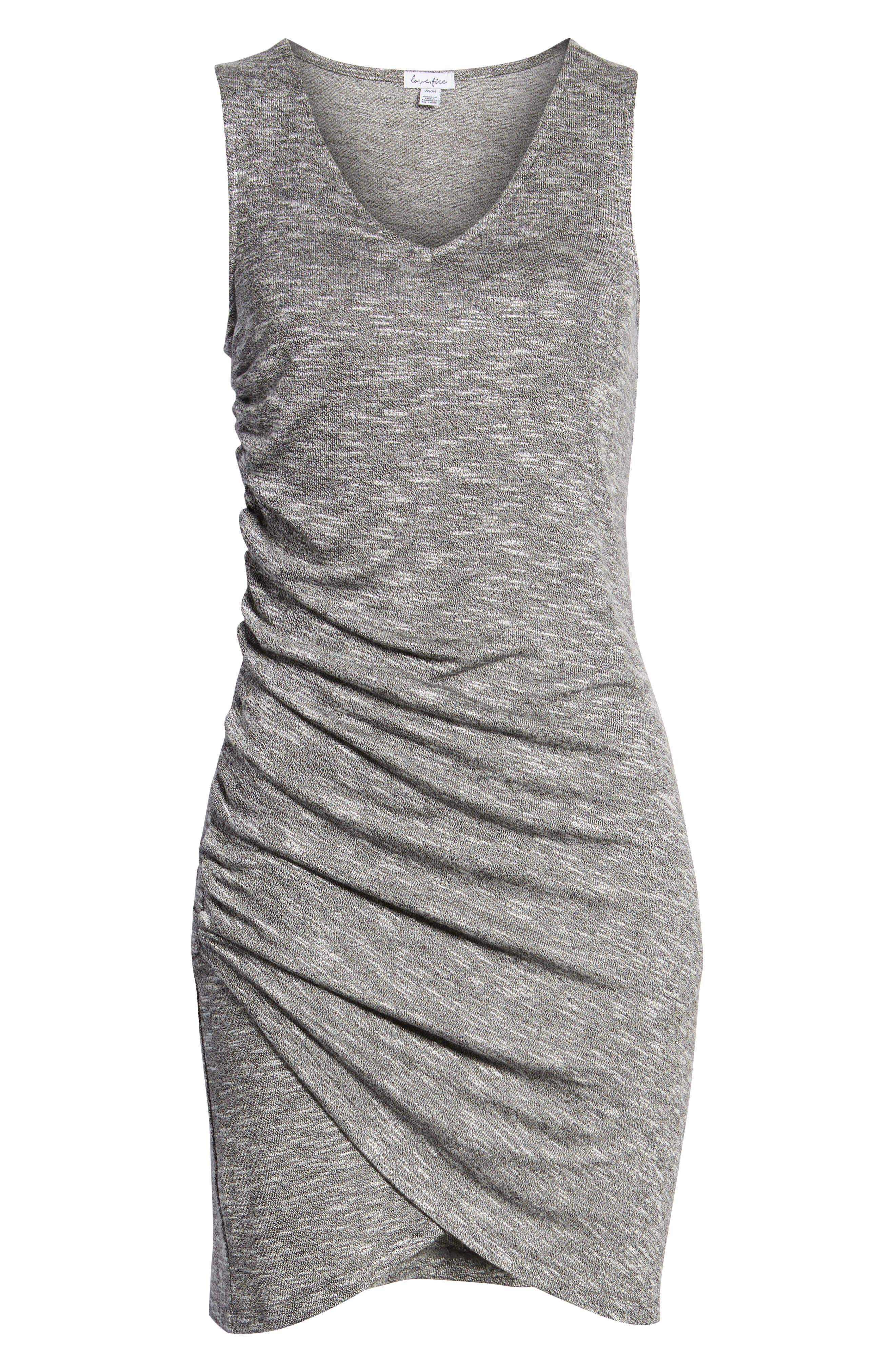 Ruched Tank Dress,                             Alternate thumbnail 7, color,                             Heather Grey