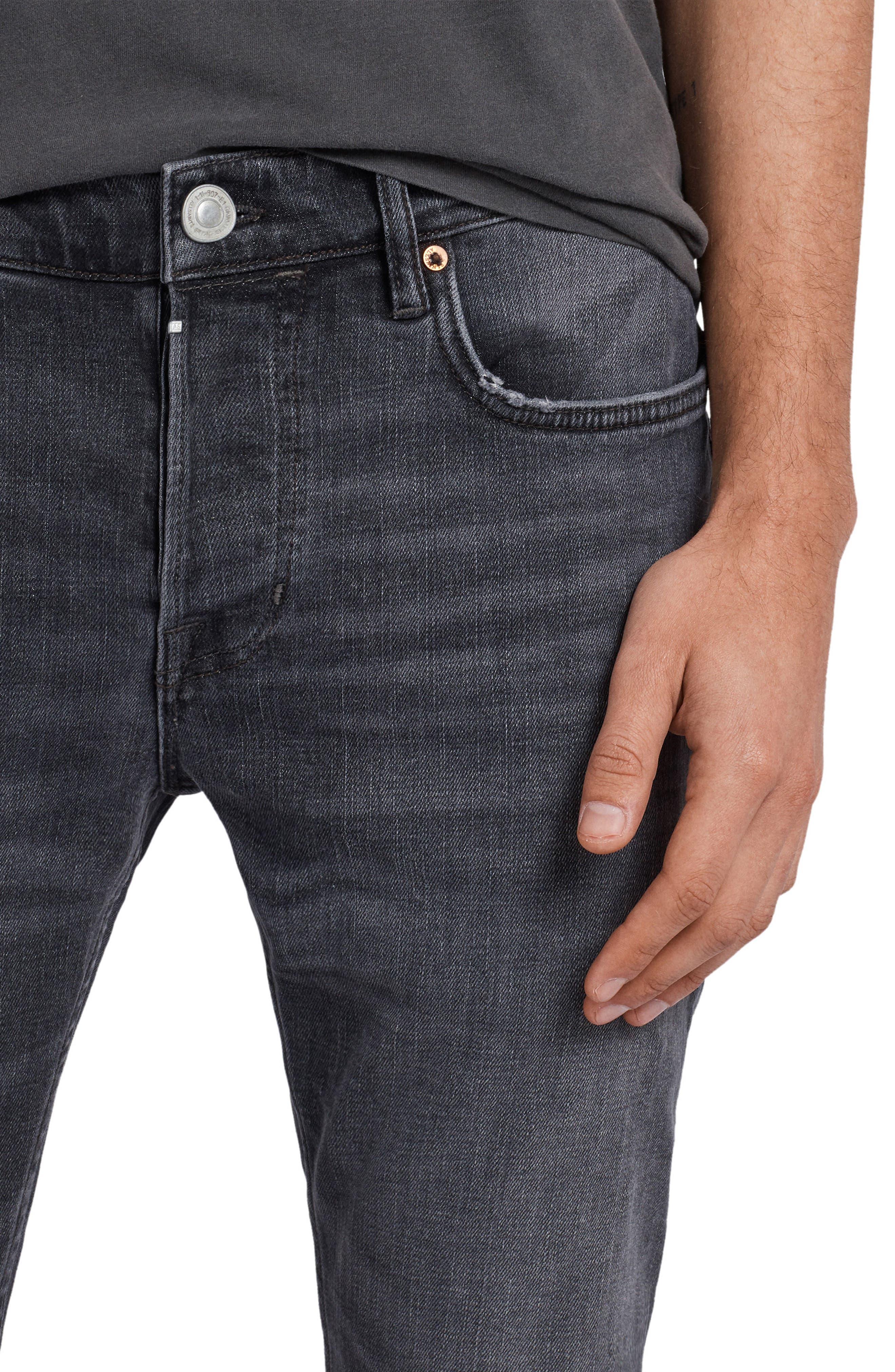Graine Reed Regular Fit Jeans,                             Alternate thumbnail 4, color,                             Grey