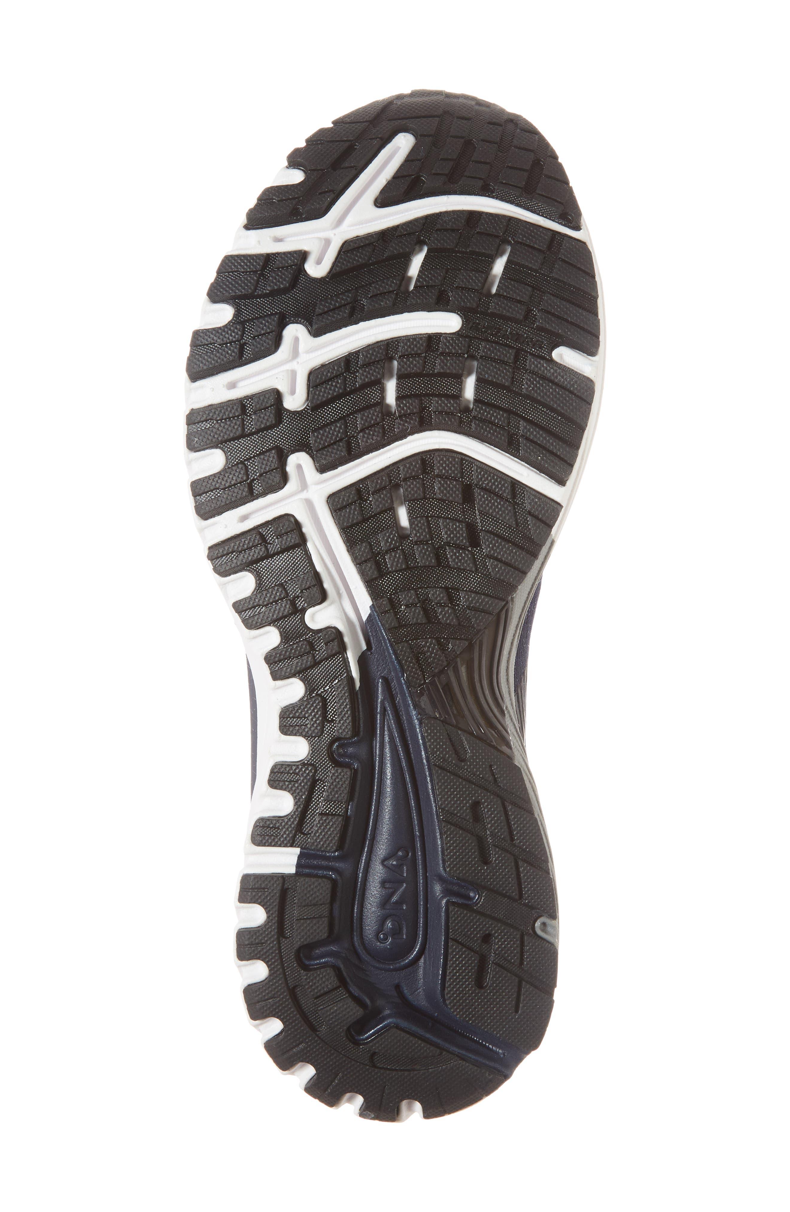 Adrenaline GTS 18 Running Shoe,                             Alternate thumbnail 6, color,                             Navy/ Grey/ Black