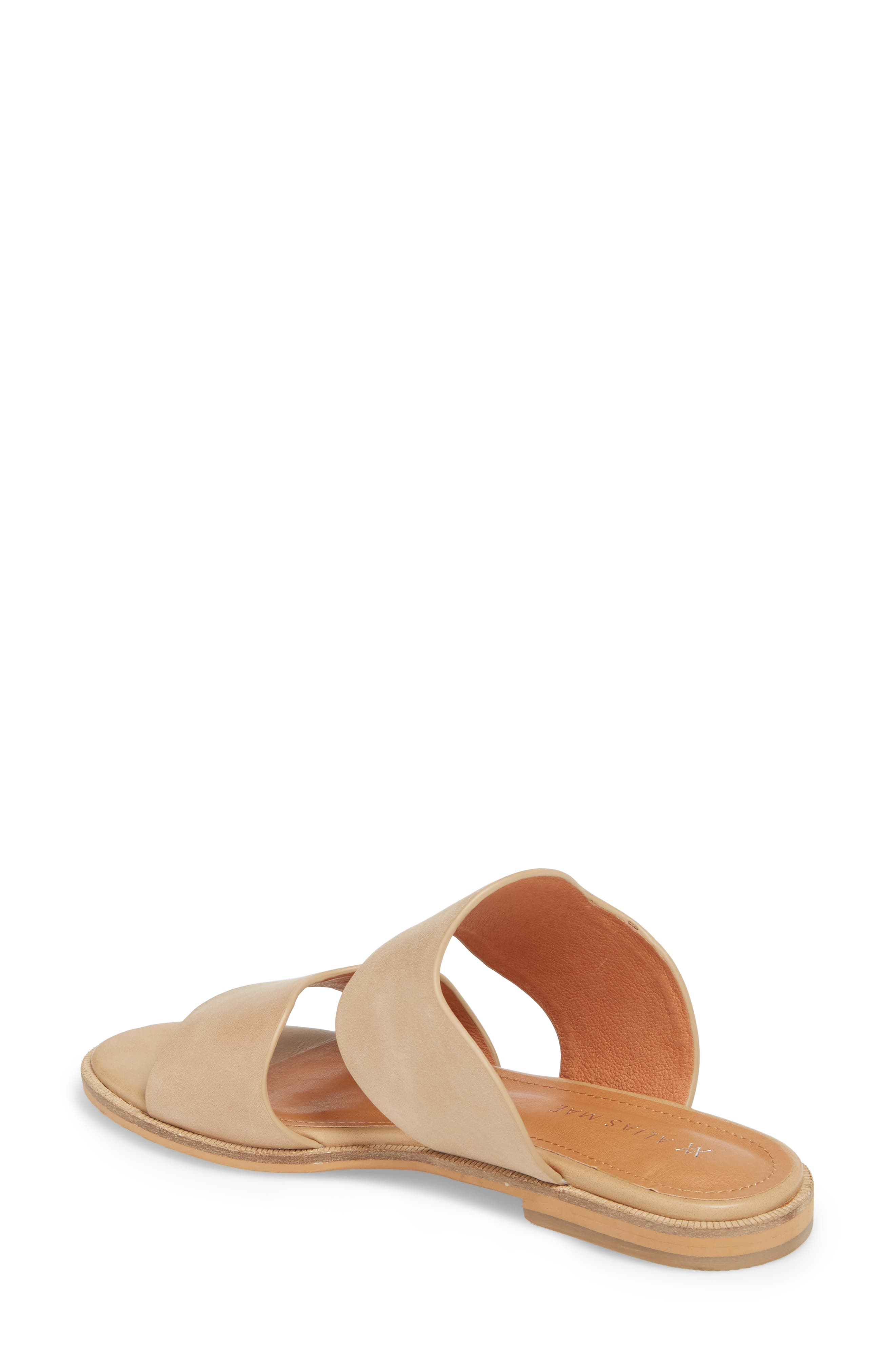 Thermos Scalloped Slide Sandal,                             Alternate thumbnail 2, color,                             Natural Leather