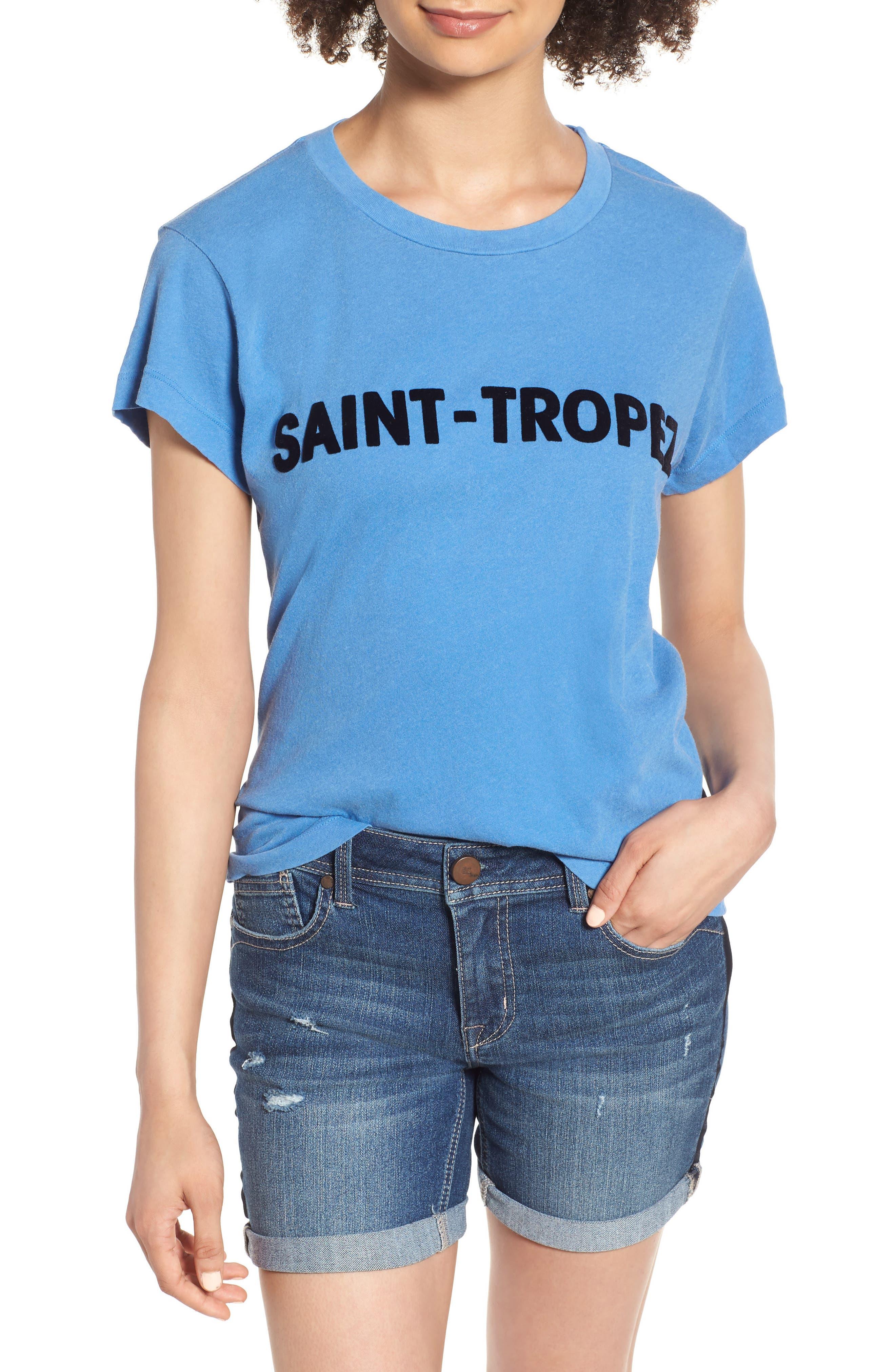 Saint Tropez Tee,                         Main,                         color, Pigment Blue Coast