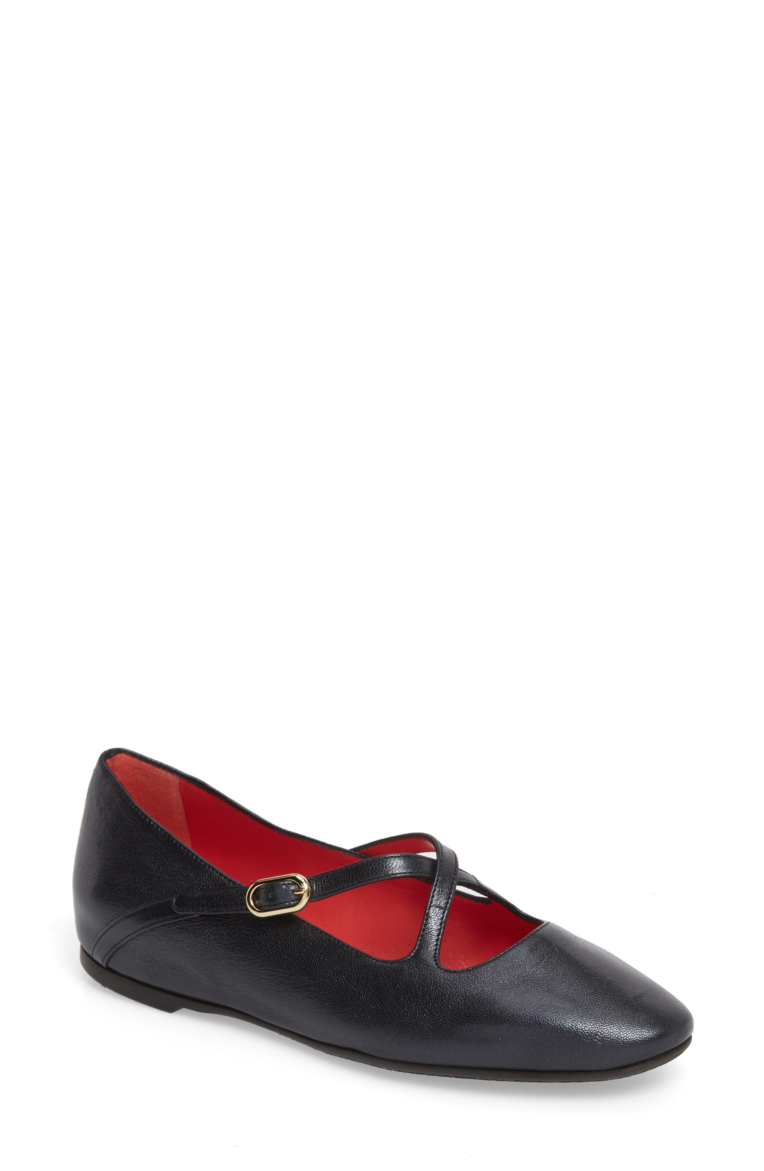 Dafne Flat,                         Main,                         color, Black Leather