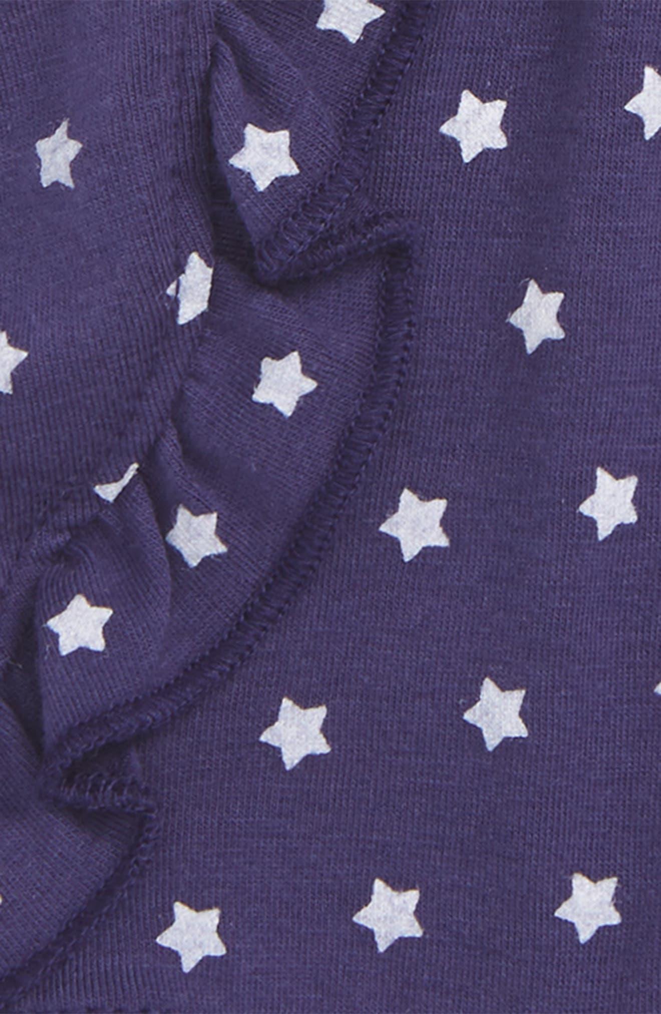 Star Print Ruffle Shorts,                             Alternate thumbnail 2, color,                             Navy Ribbon Stars