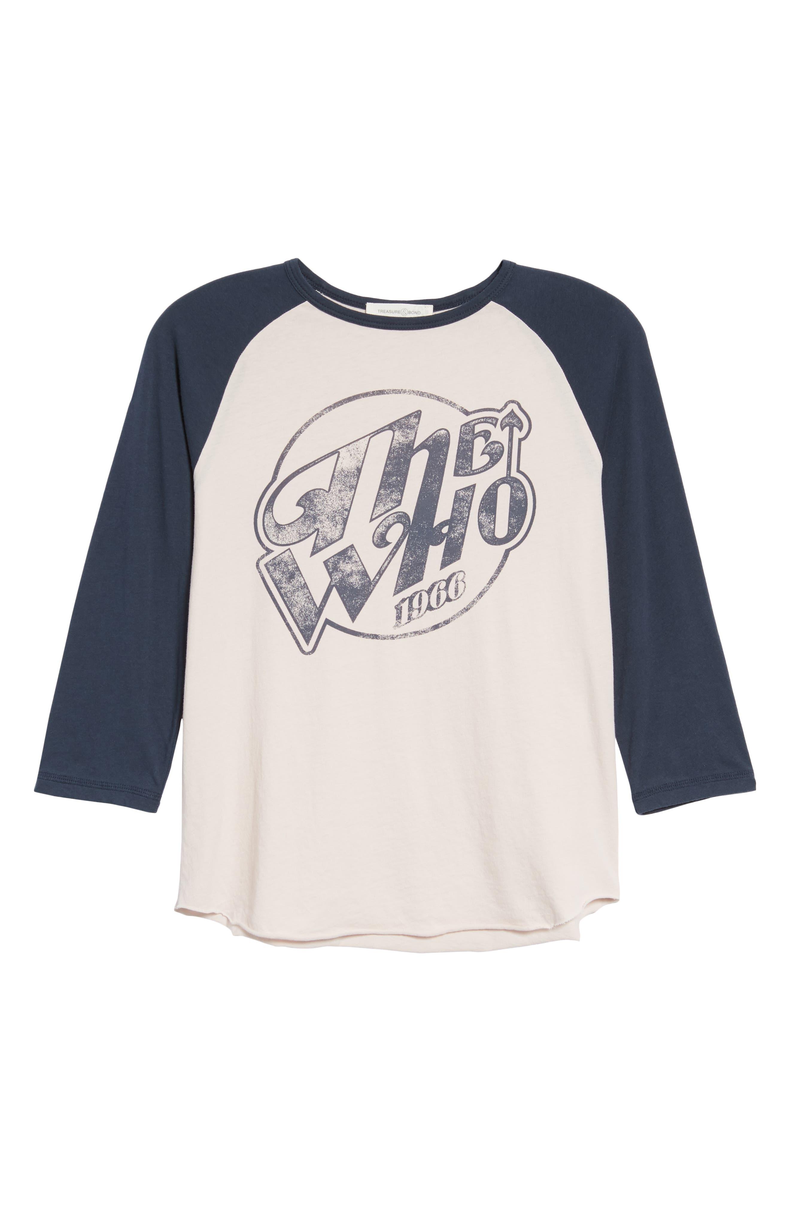 The Who Baseball Tee,                             Alternate thumbnail 6, color,                             Pink Hush Combo
