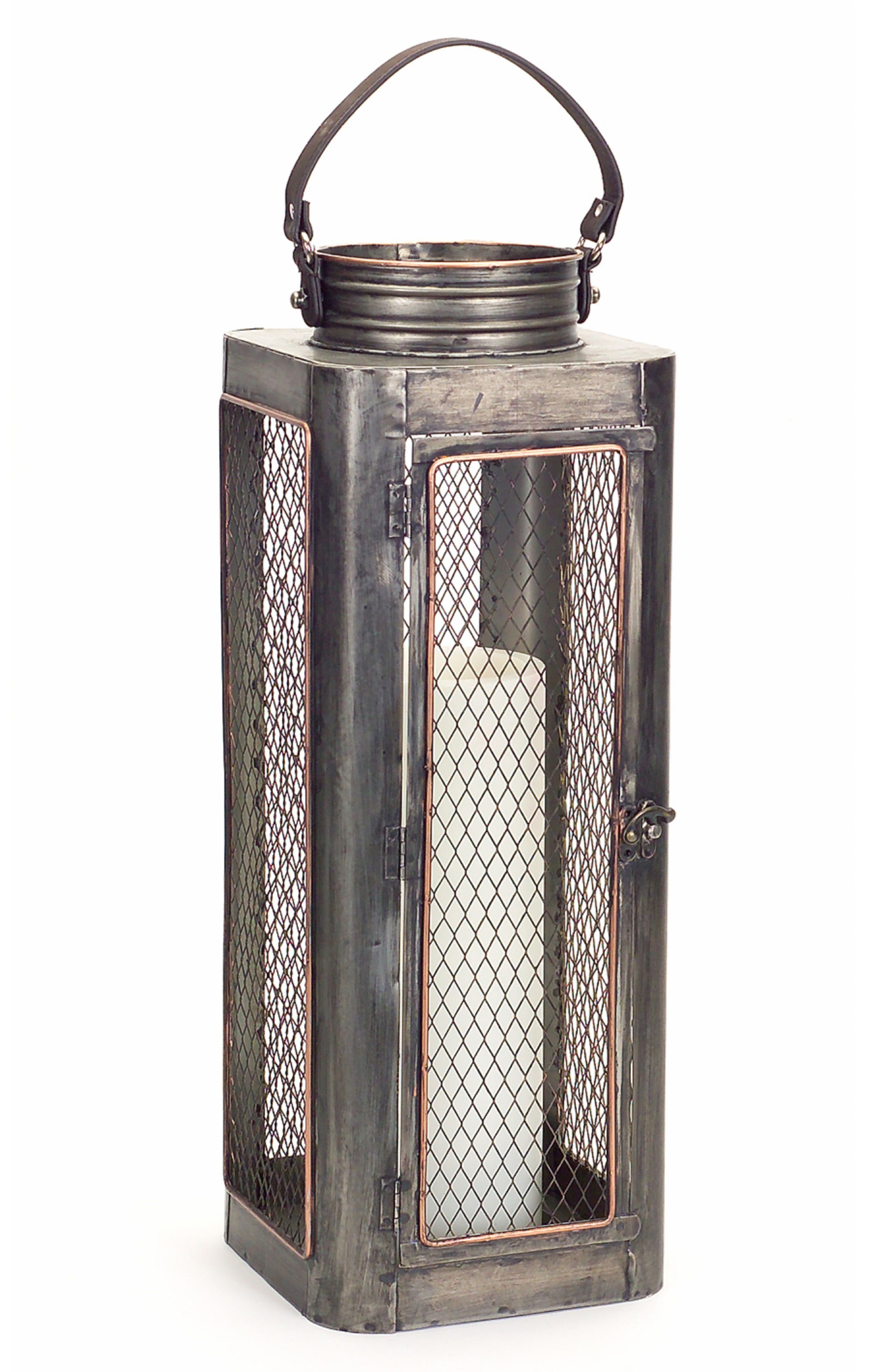 Melrose Gifts Lantern with Leather Handle