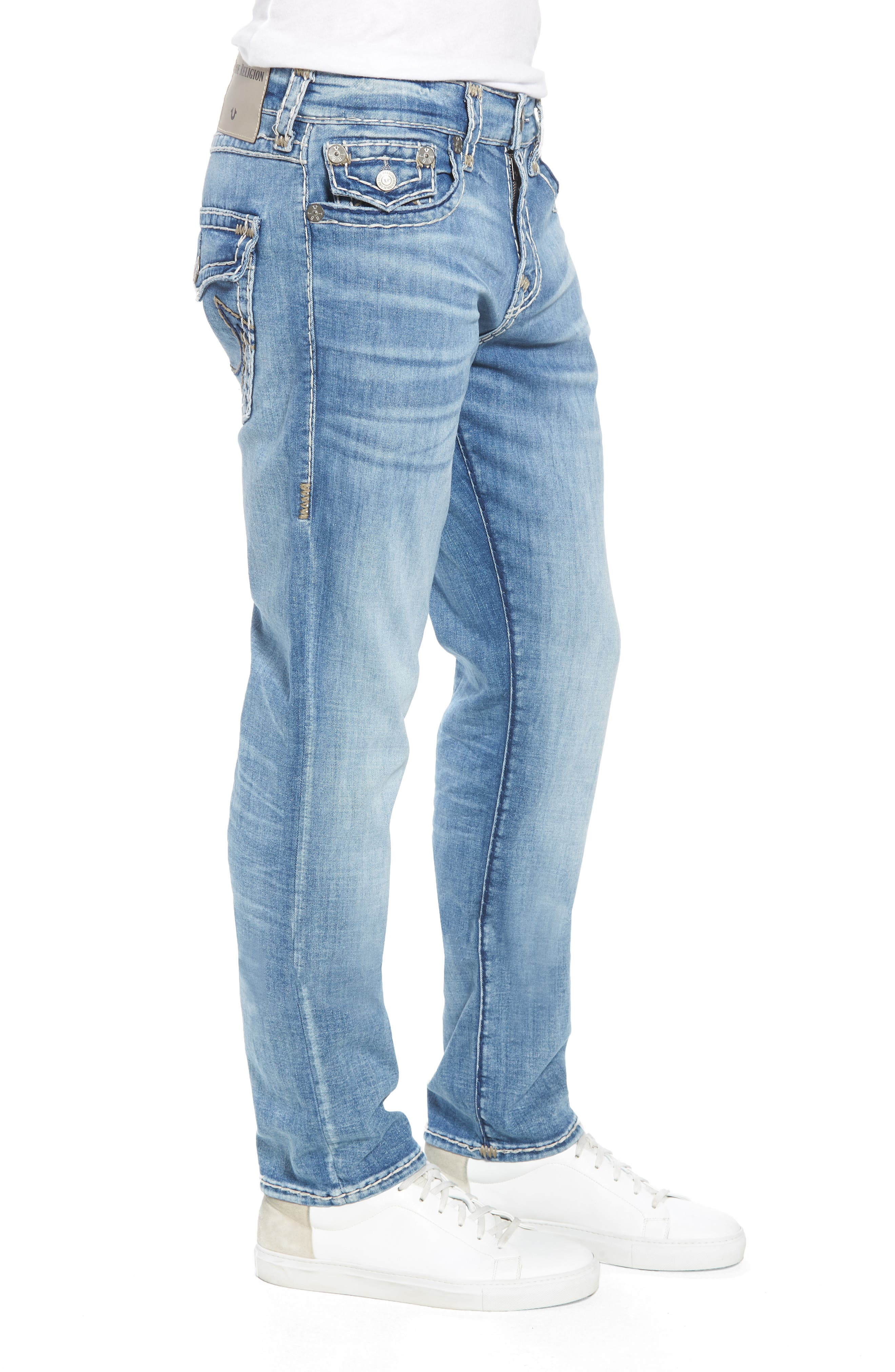 Geno Straight Leg Jeans,                             Alternate thumbnail 3, color,                             Satellite