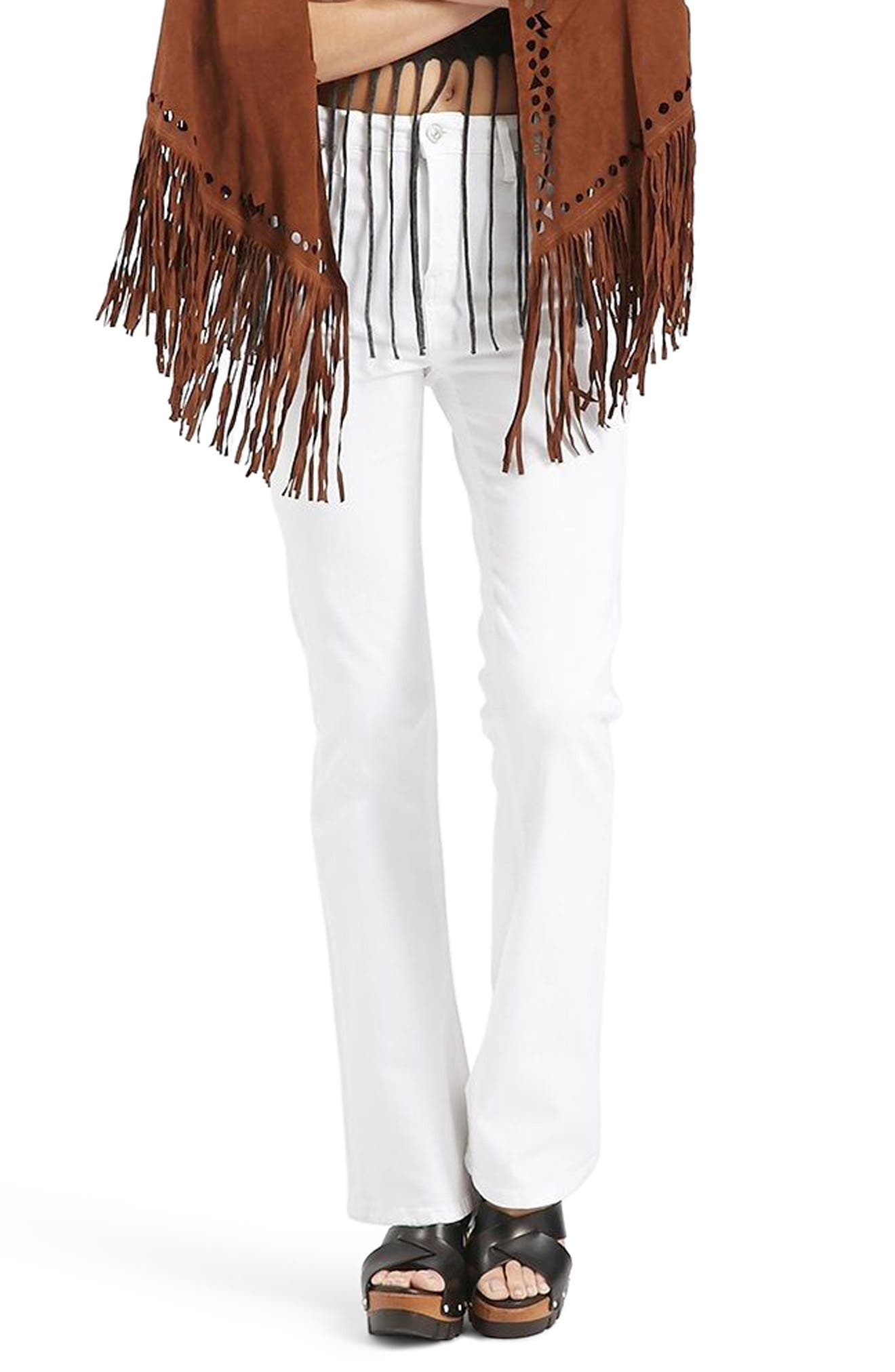Jamie Flare Jeans,                         Main,                         color, White