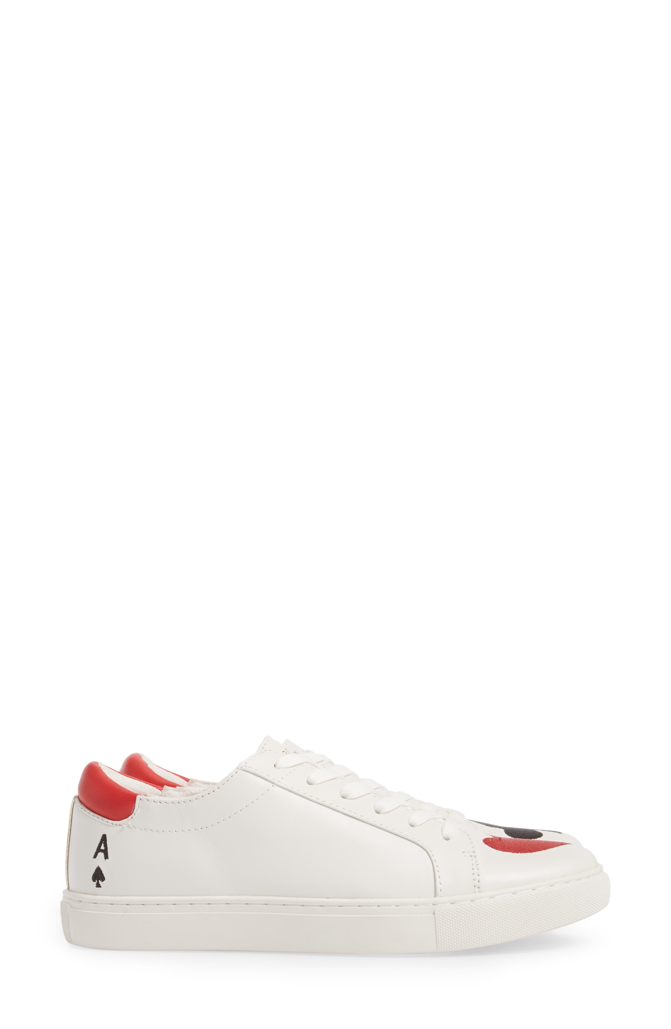 'Kam' Sneaker,                             Alternate thumbnail 4, color,                             White Red Black Leather