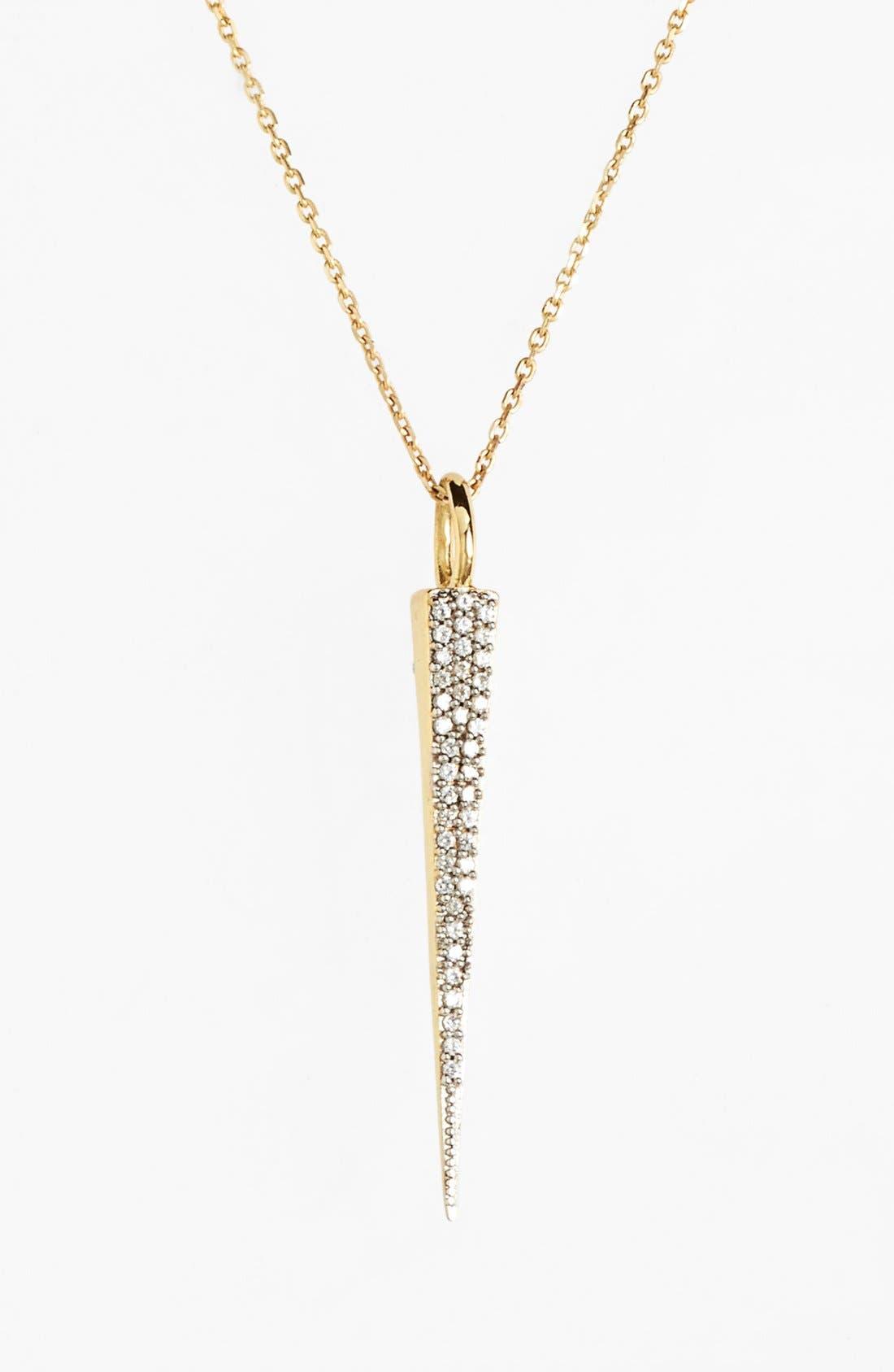 'Lillian' Pavé Pendant Necklace,                             Main thumbnail 1, color,                             Gold/ Clear