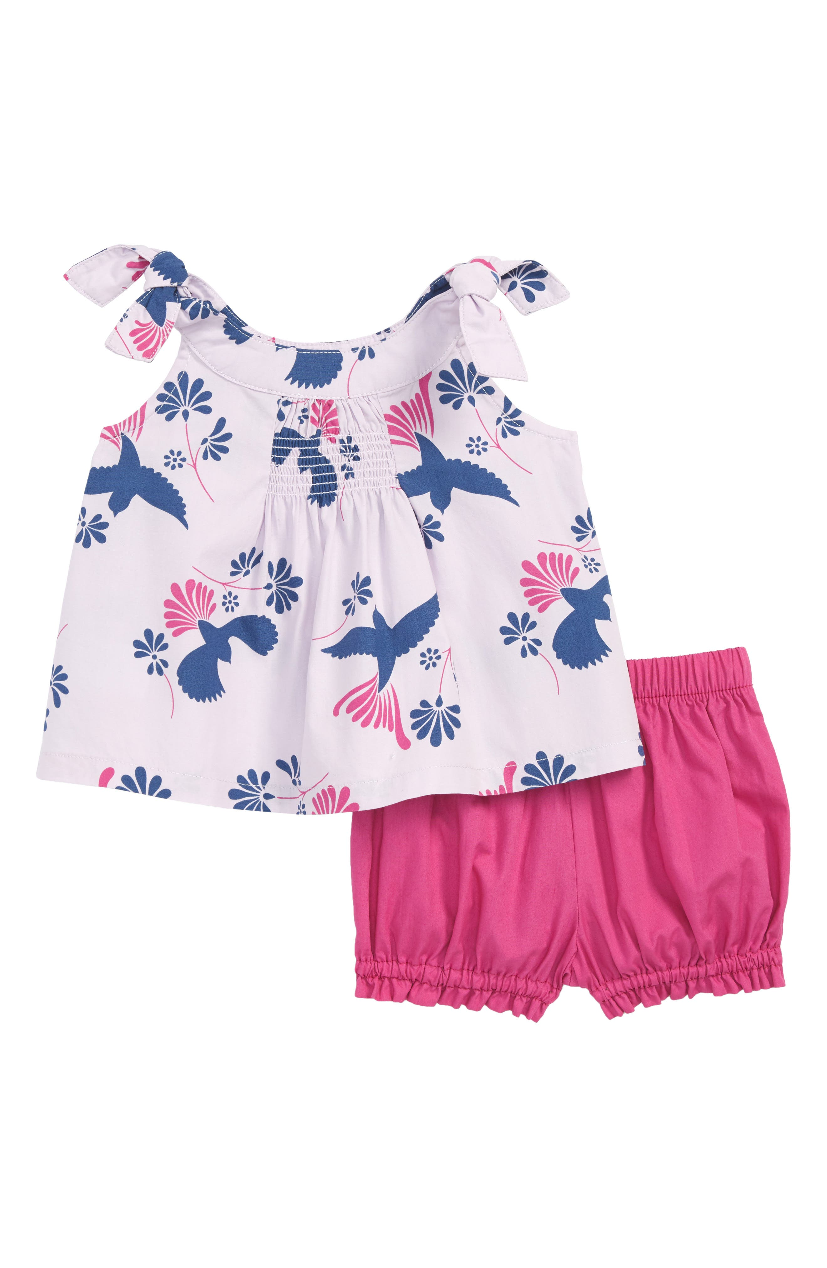 Tea Collection Shoulder Tie Top & Shorts Set (Baby Girls)