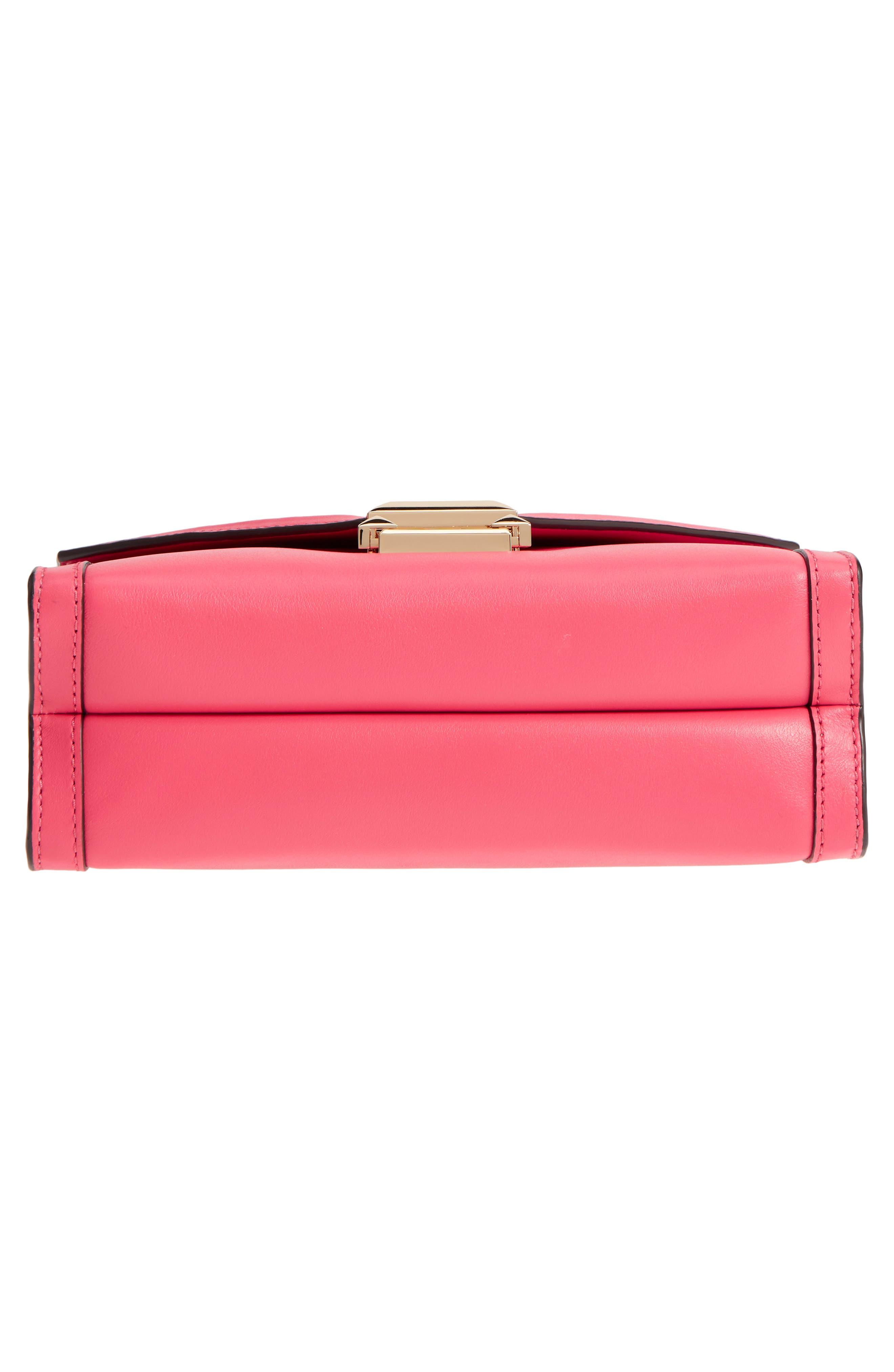 Large Whitney Leather Shoulder Bag,                             Alternate thumbnail 6, color,                             Rose Pink