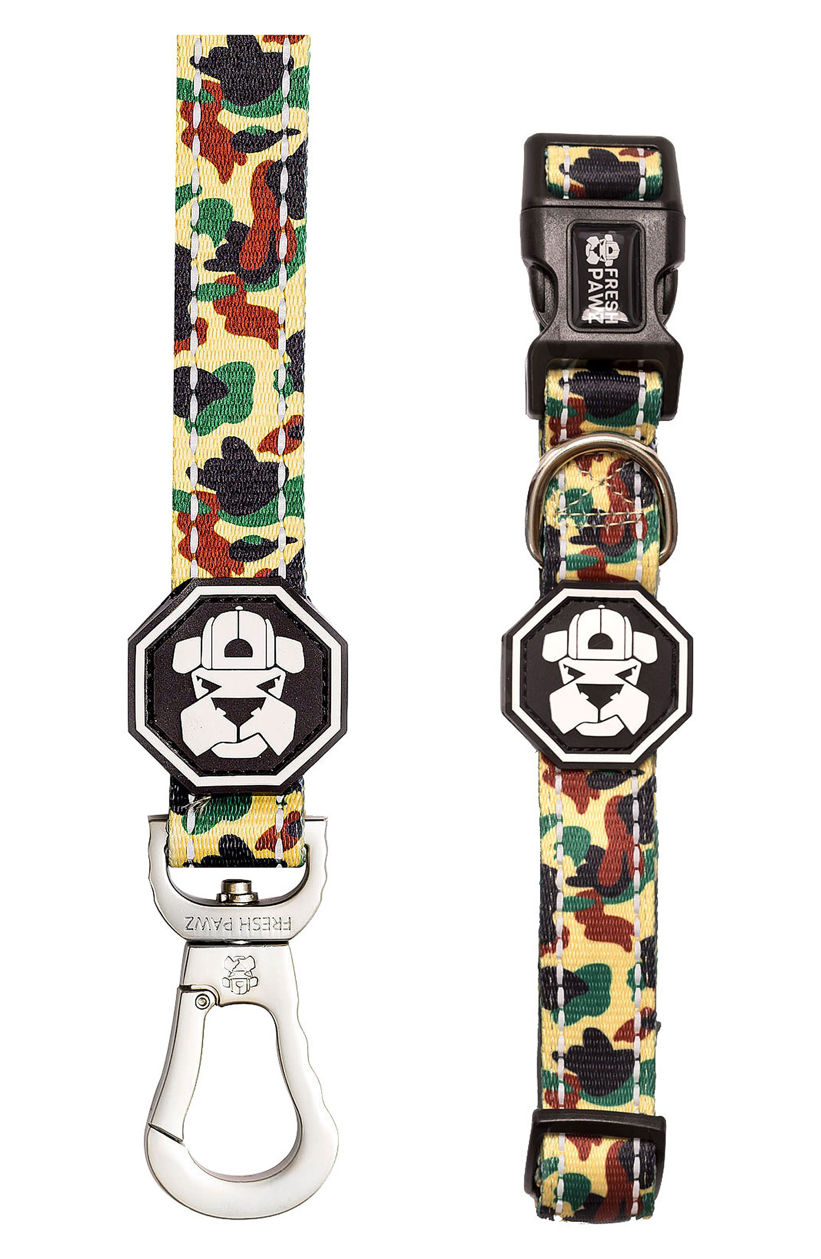 Leash and Collar Set,                         Main,                         color, Hype Camo