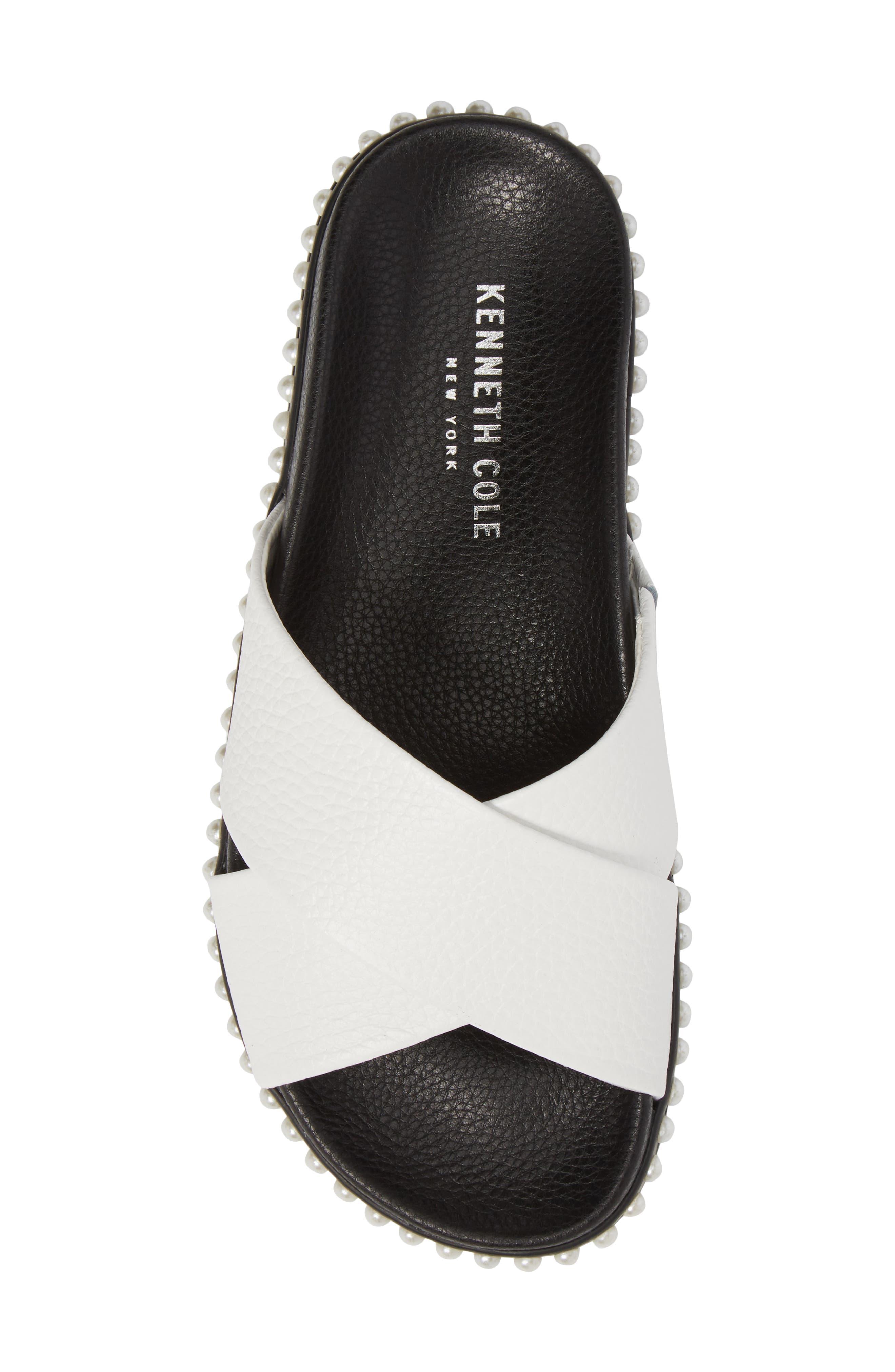 Xiomana Slide Sandal,                             Alternate thumbnail 5, color,                             White Leather