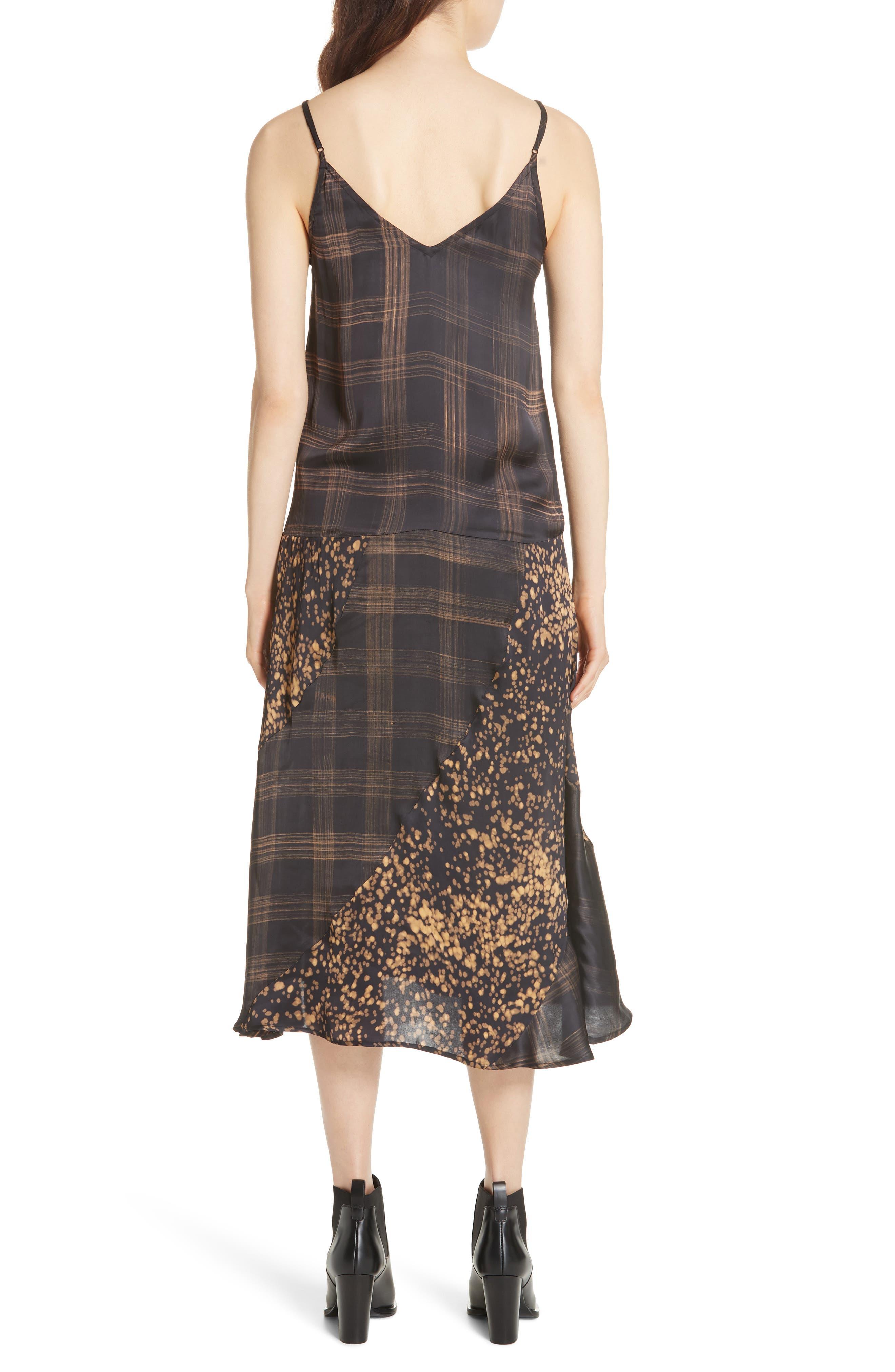 Gambetta Printed Midi Dress,                             Alternate thumbnail 2, color,                             Black Mix