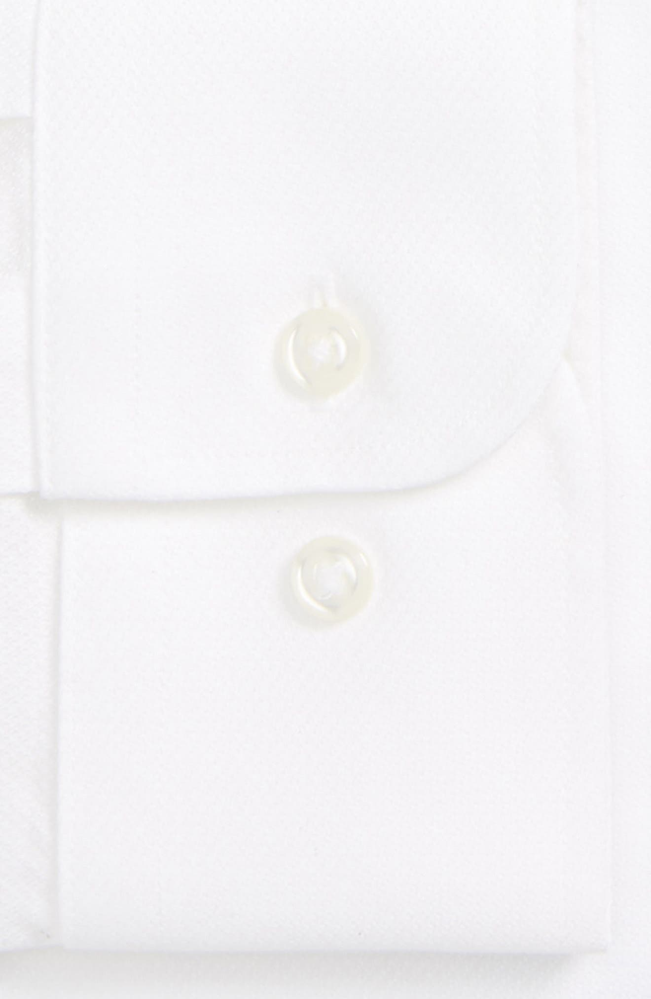 Smartcare<sup>™</sup> Trim Fit Solid Dress Shirt,                             Alternate thumbnail 5, color,                             White