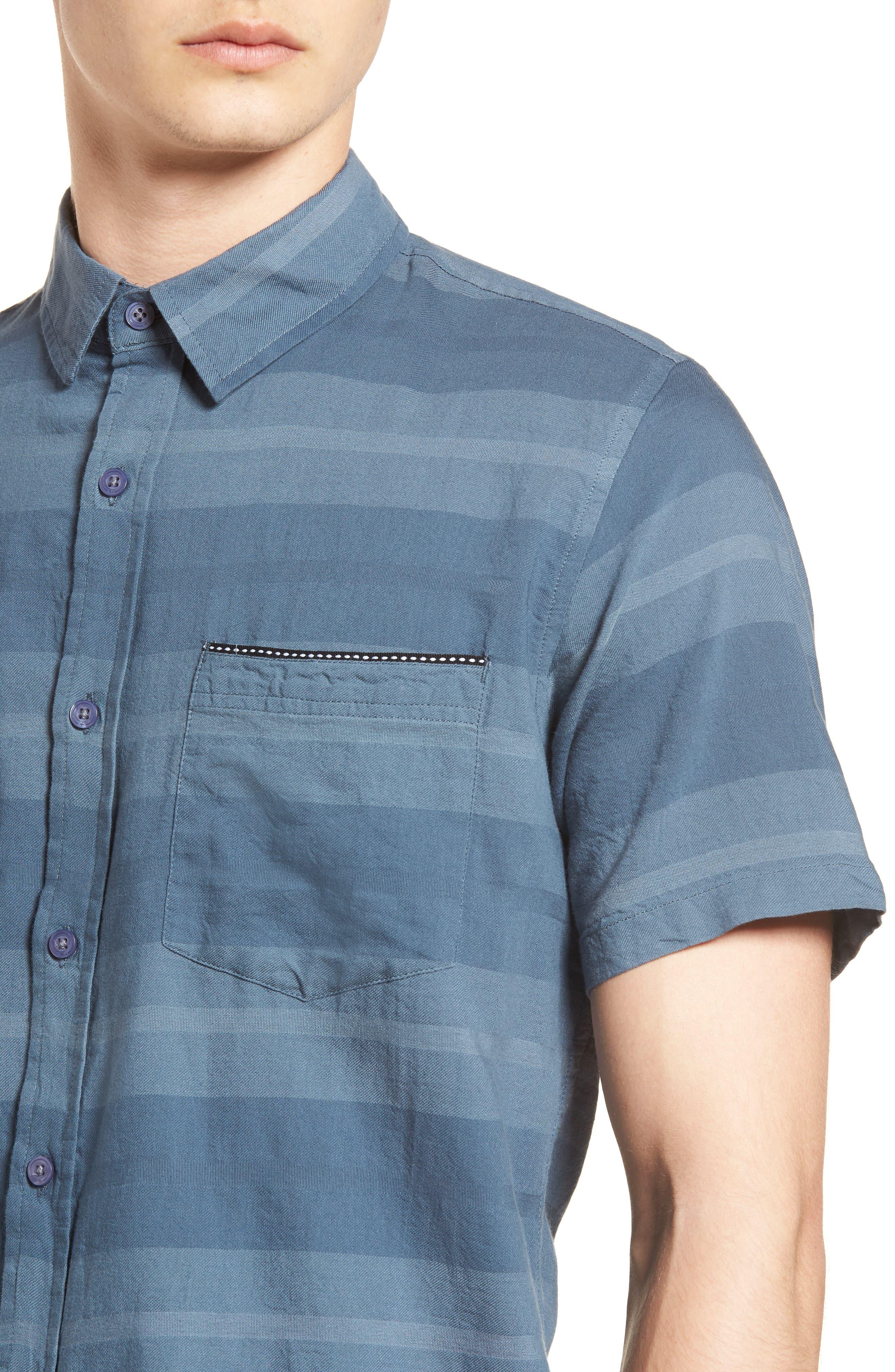 Dobson Woven Shirt,                             Alternate thumbnail 2, color,                             Storm Blue/Prison Blue Stripe