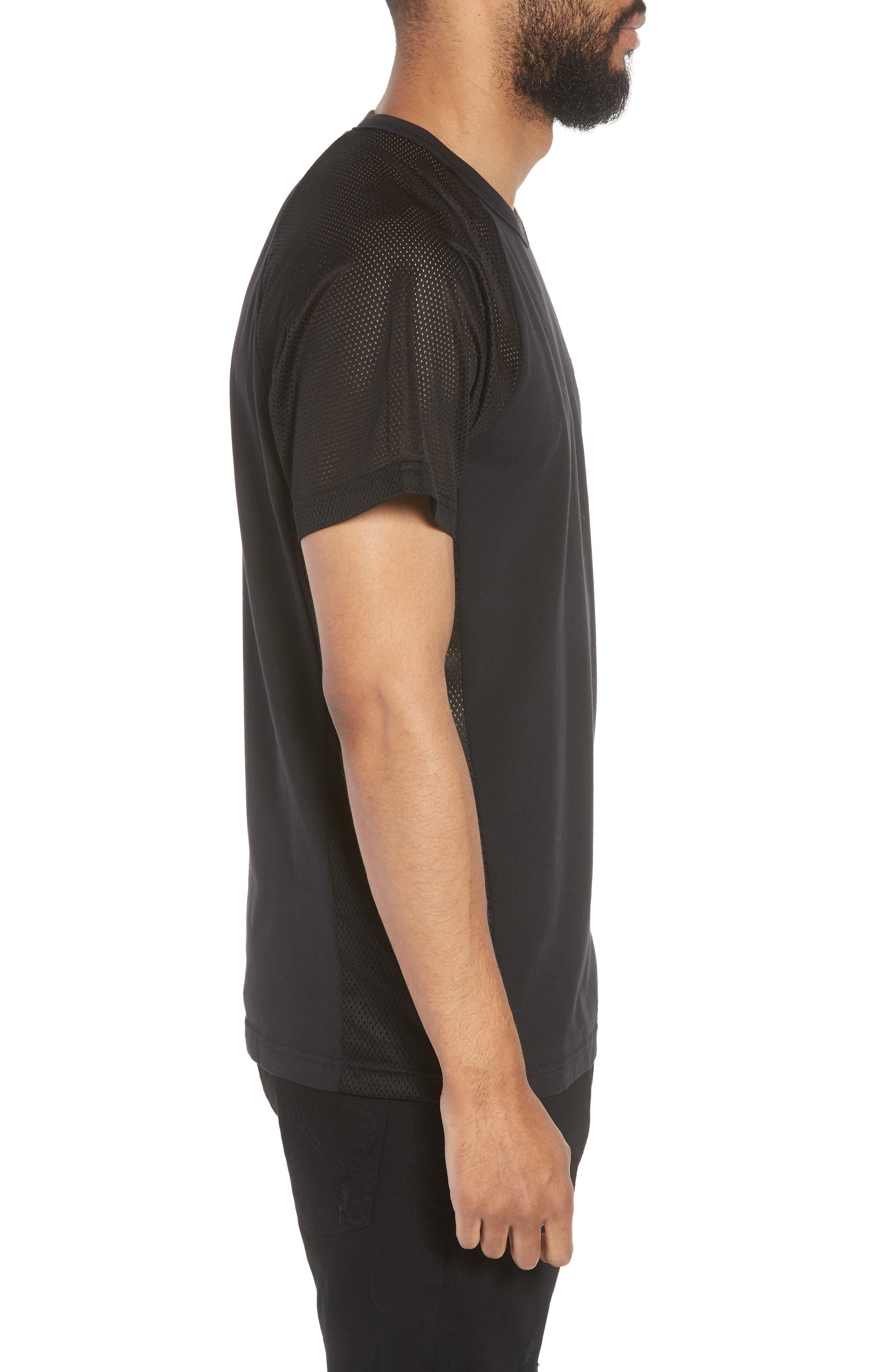 Solid Raglan T-Shirt,                             Alternate thumbnail 3, color,                             True Black