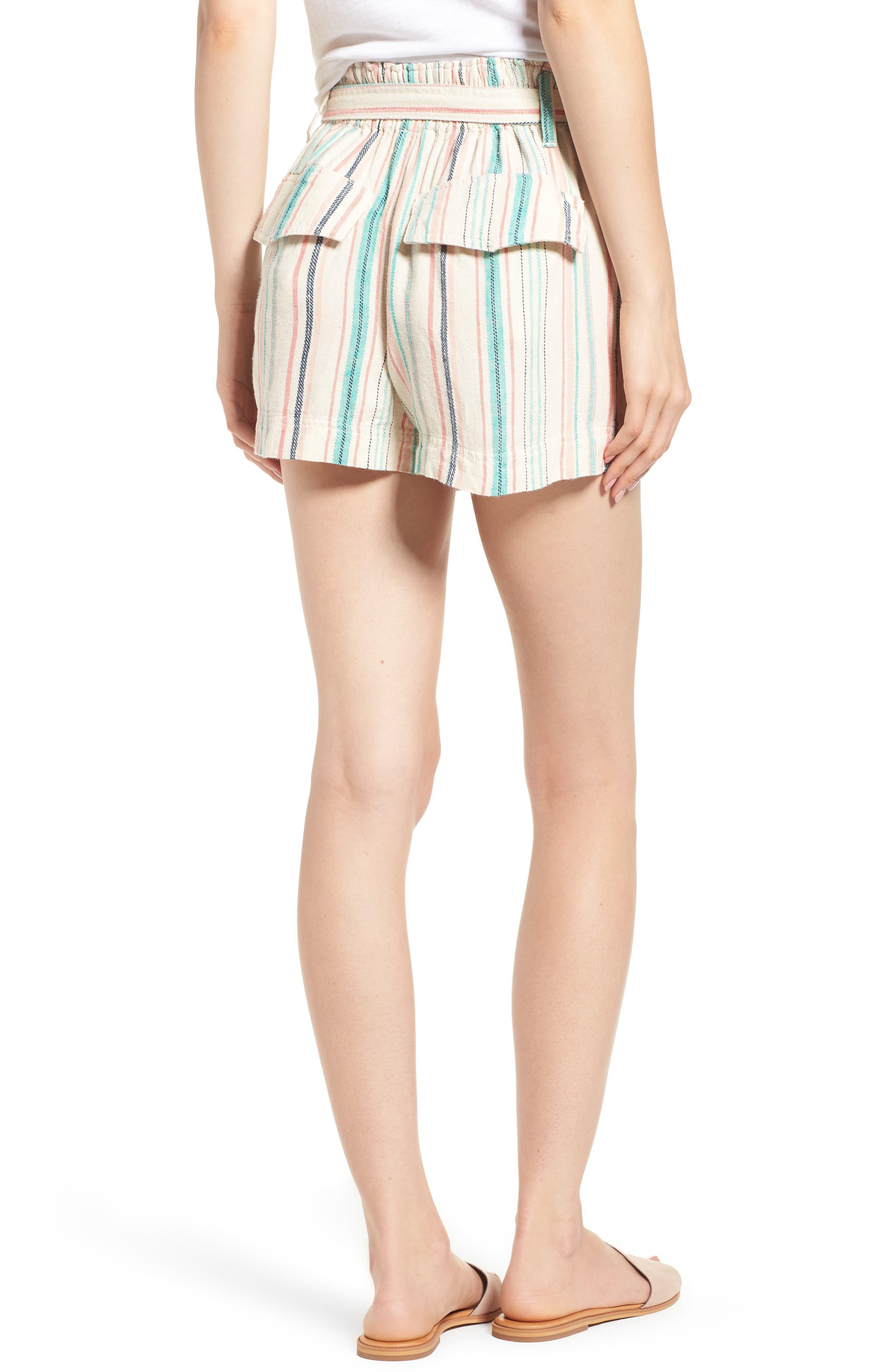 La Paz Stripe Twill Shorts,                             Alternate thumbnail 2, color,                             Multi