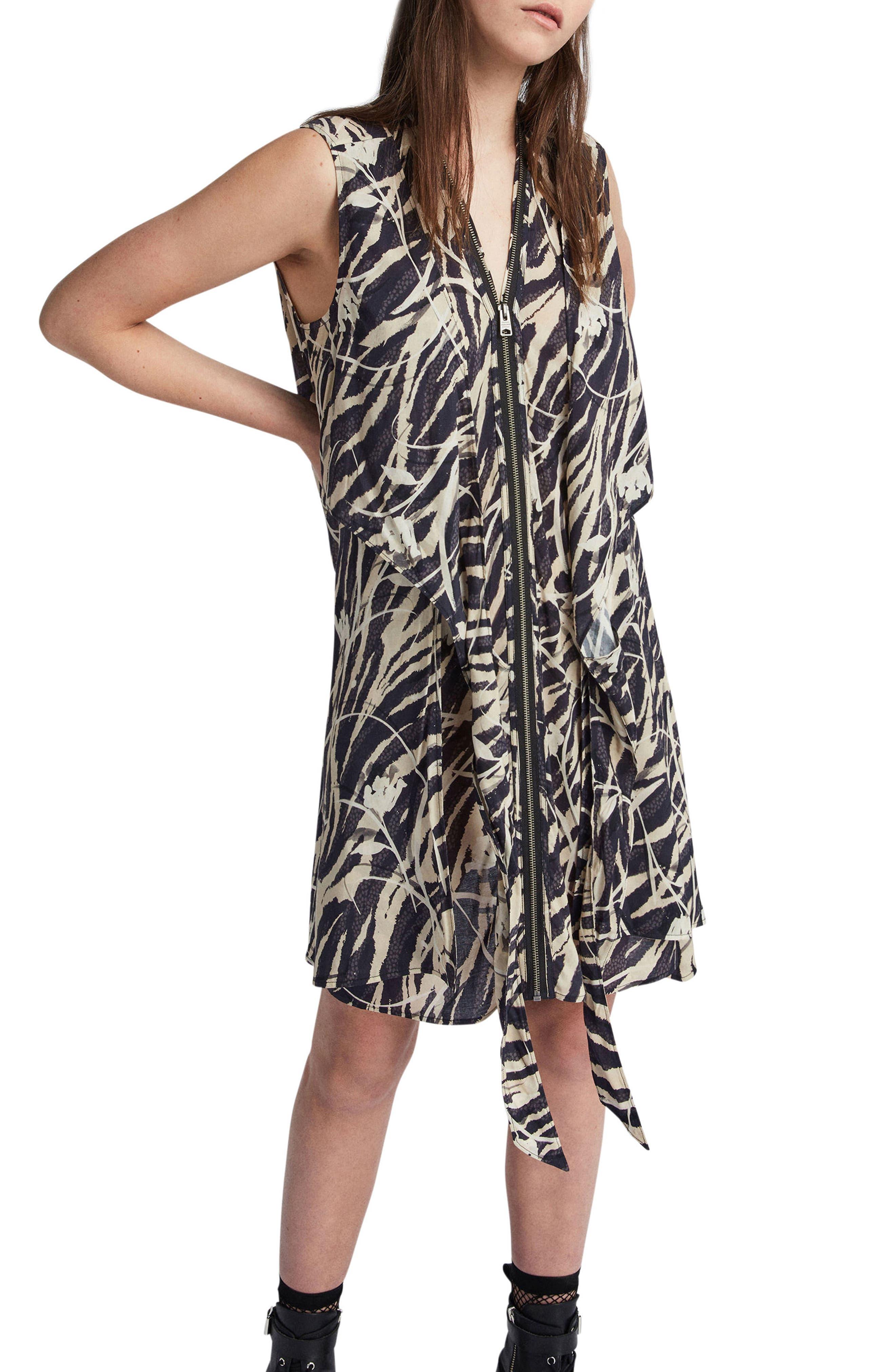 Jayda Katoi Dress,                             Alternate thumbnail 3, color,                             Coal Black