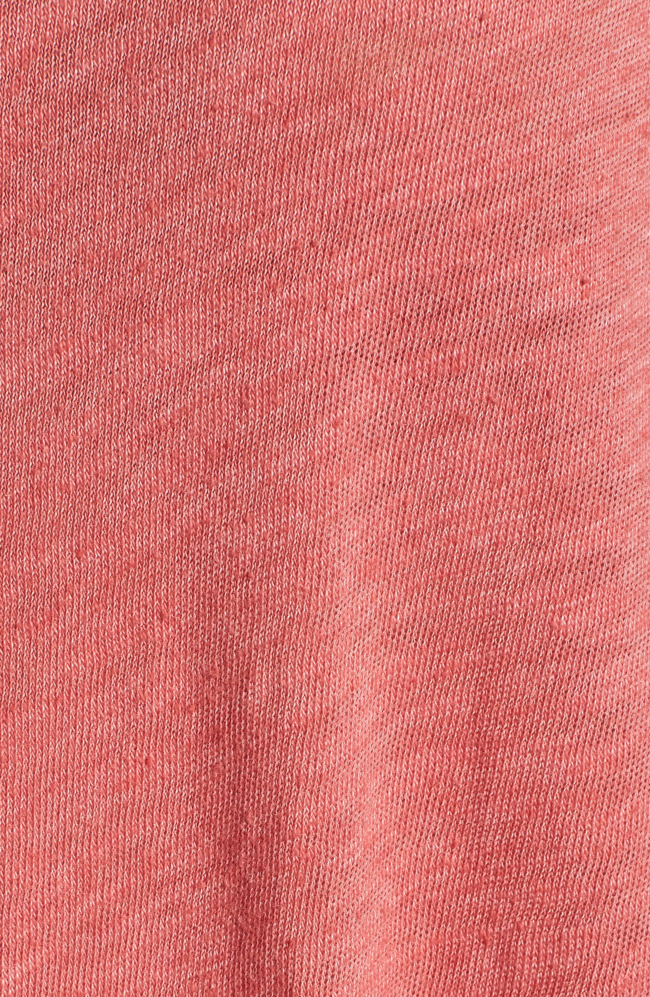 V-Neck Tee,                             Alternate thumbnail 6, color,                             Strawberry Rouge