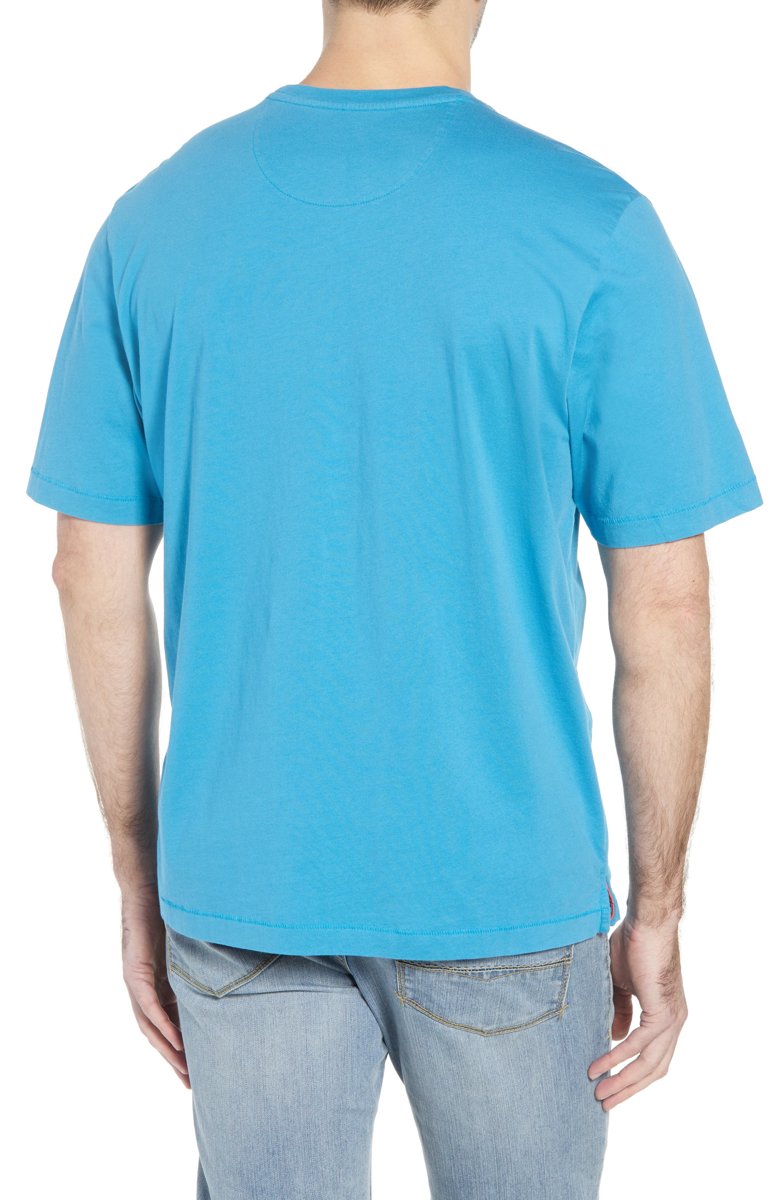 New Bali Sky Pima Cotton Pocket T-Shirt,                             Alternate thumbnail 2, color,                             Voyager Blue