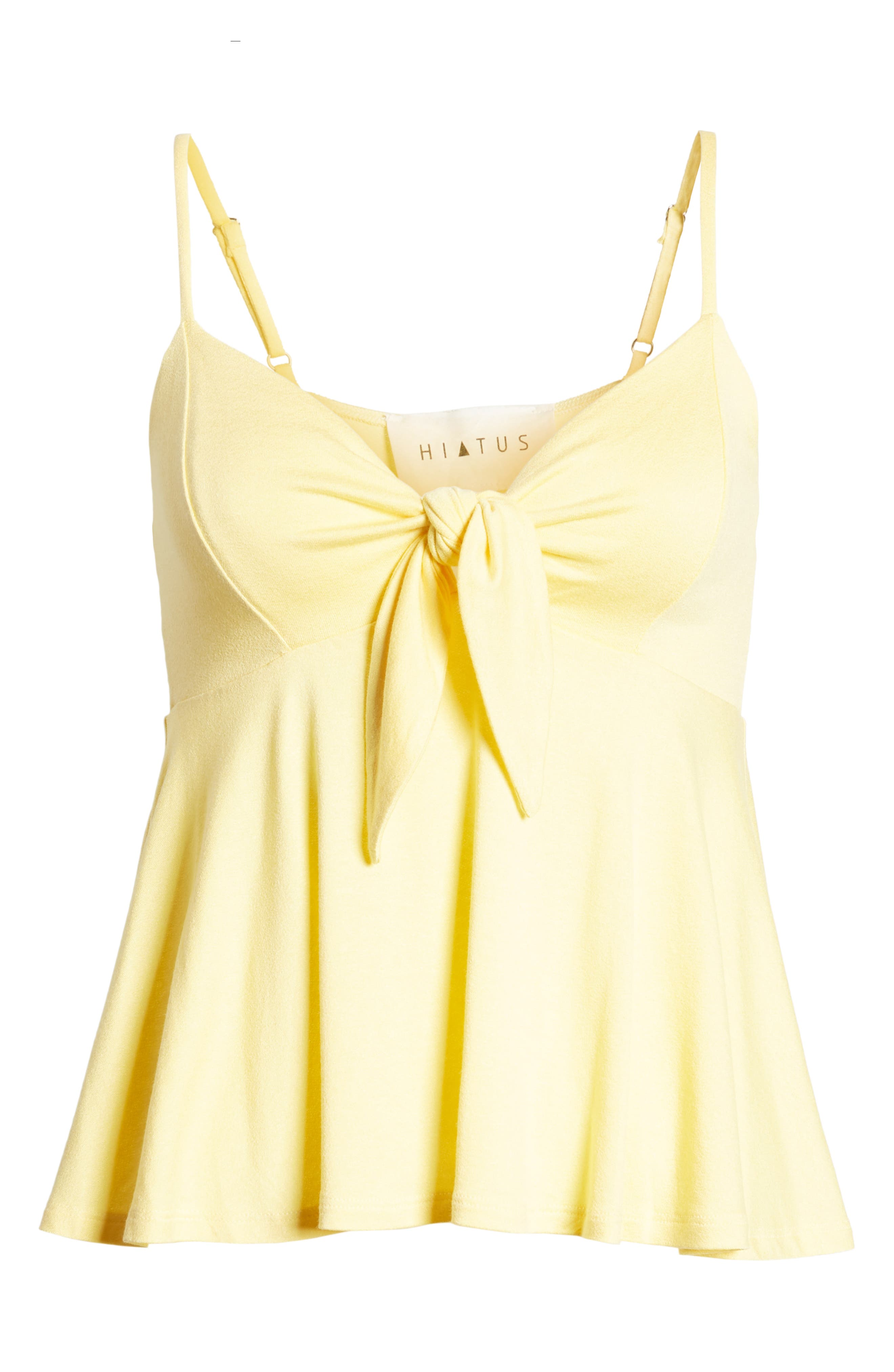 Knot Front Camisole,                             Alternate thumbnail 6, color,                             Yellow