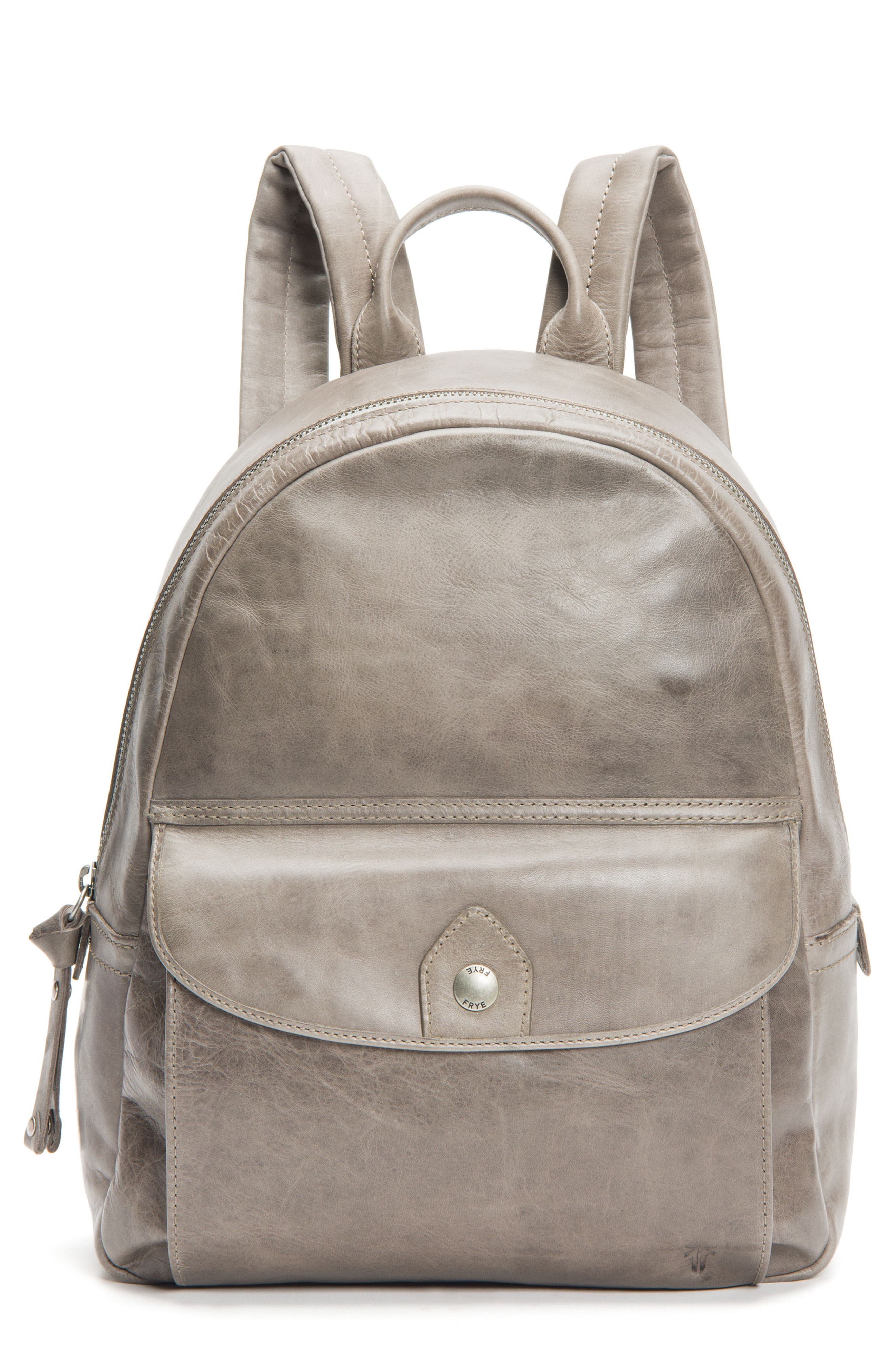 Melissa Leather Backpack,                         Main,                         color, Ice