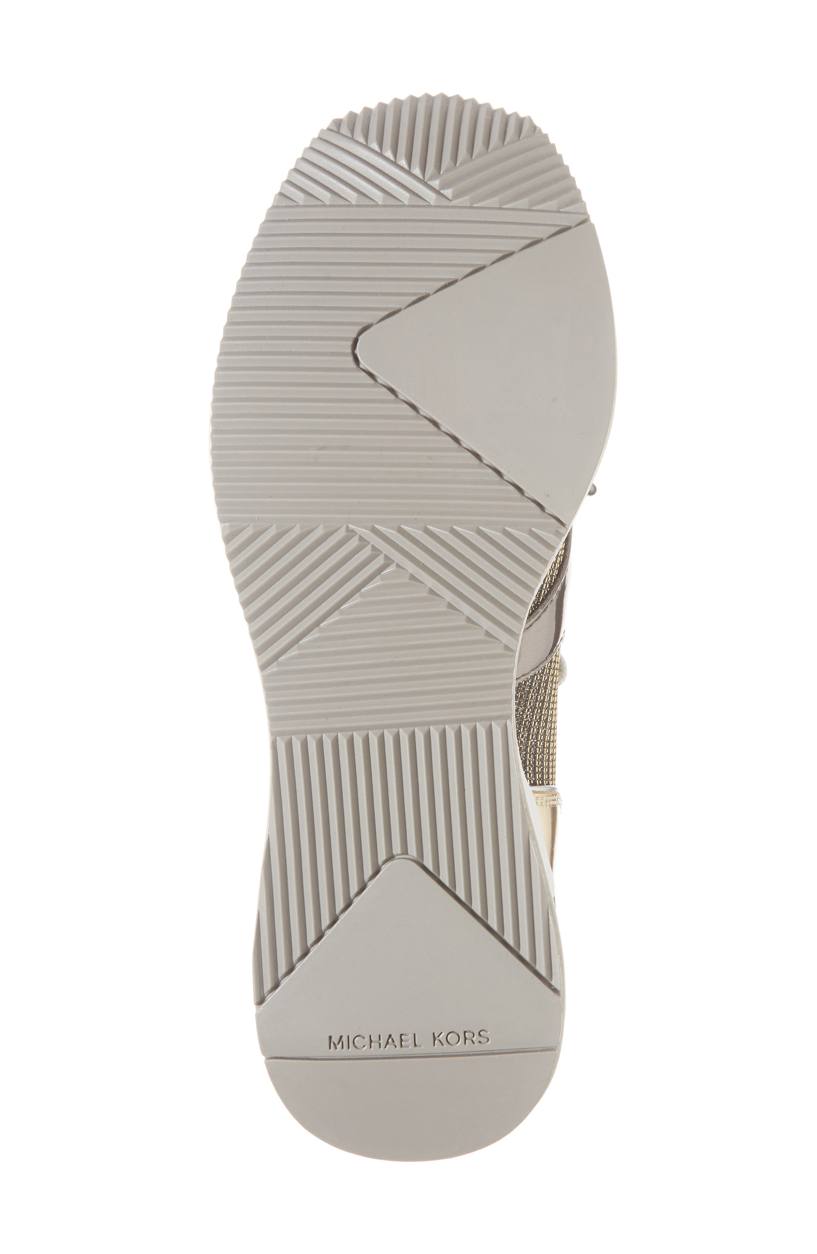 Hilda Wedge Sneaker,                             Alternate thumbnail 6, color,                             Silver Knit Fabric