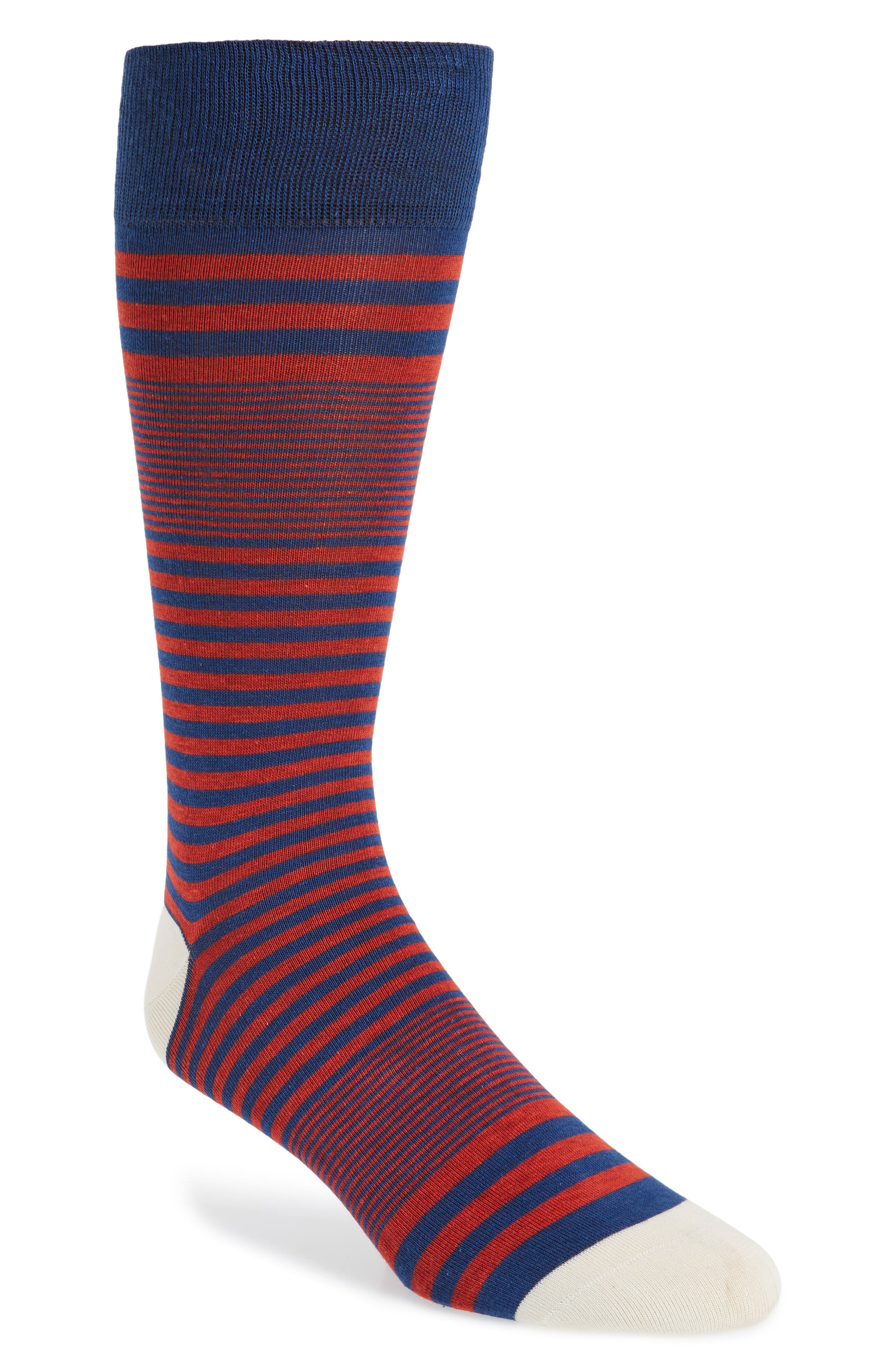 Stripe Socks,                             Main thumbnail 1, color,                             Marine Blue
