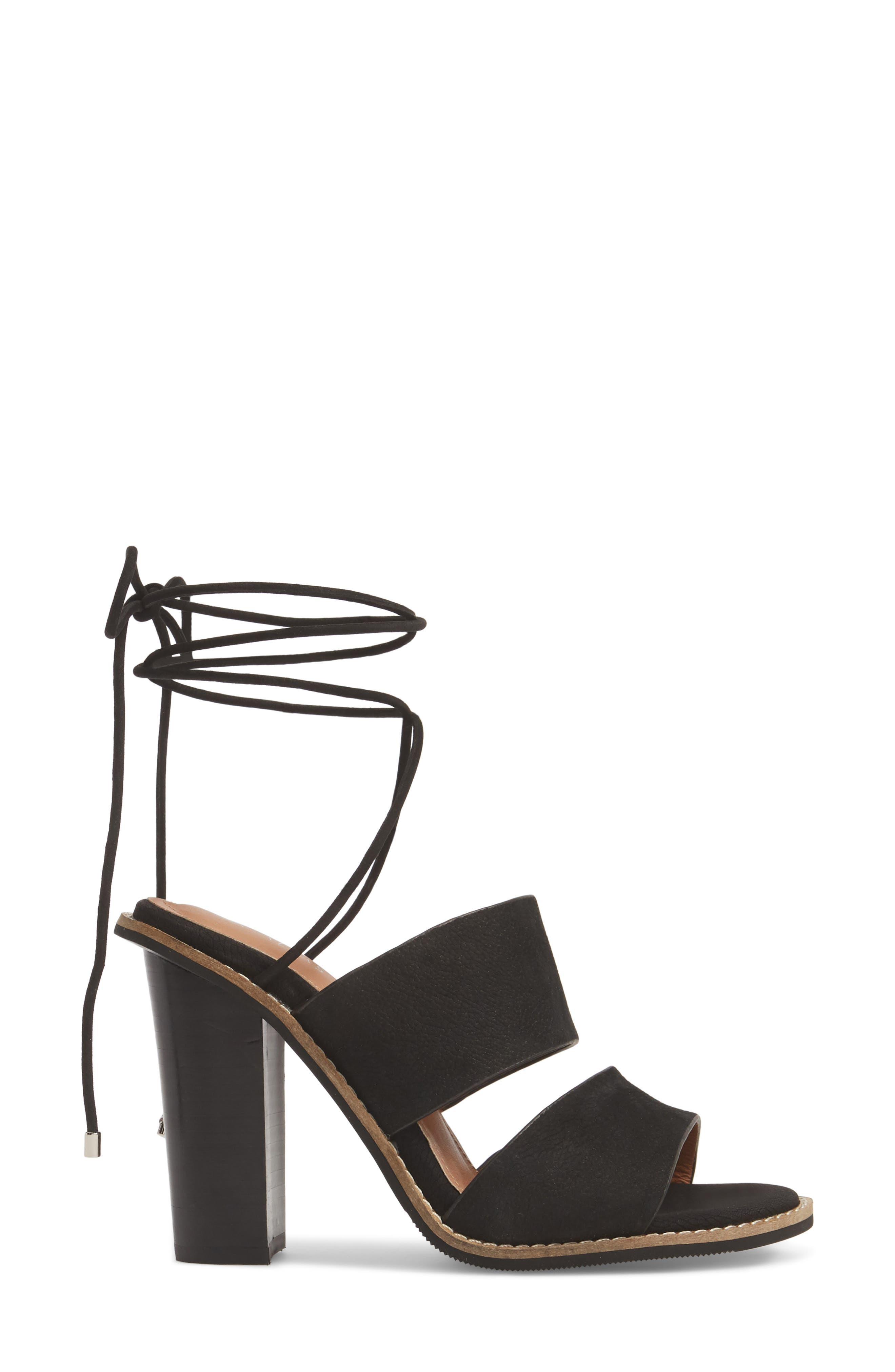 Cabrilla Sandal,                             Alternate thumbnail 3, color,                             Black Leather