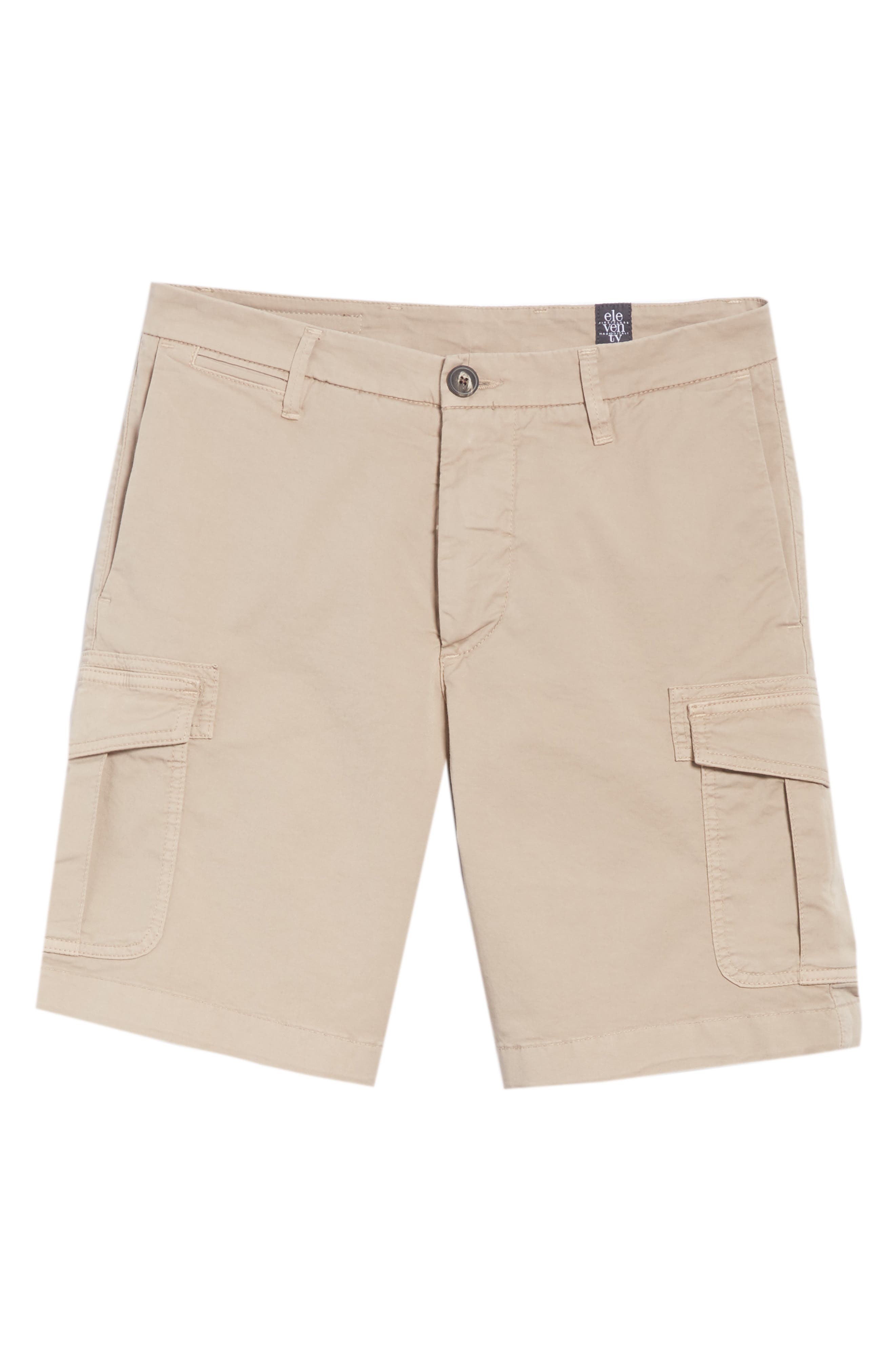 Stretch Cotton Cargo Shorts,                             Alternate thumbnail 6, color,                             Sand