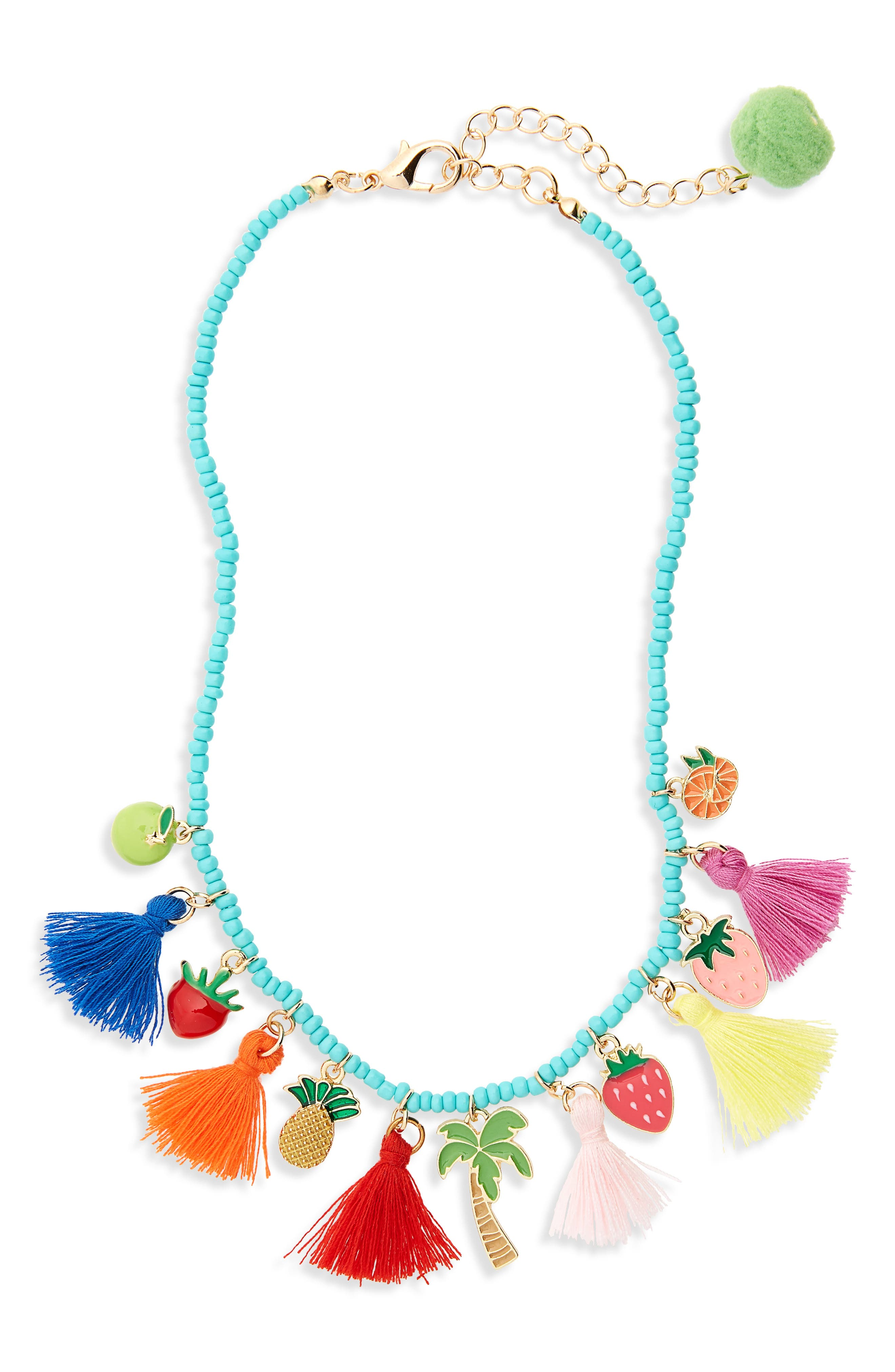 Cara Tassel & Charm Necklace (Girls)