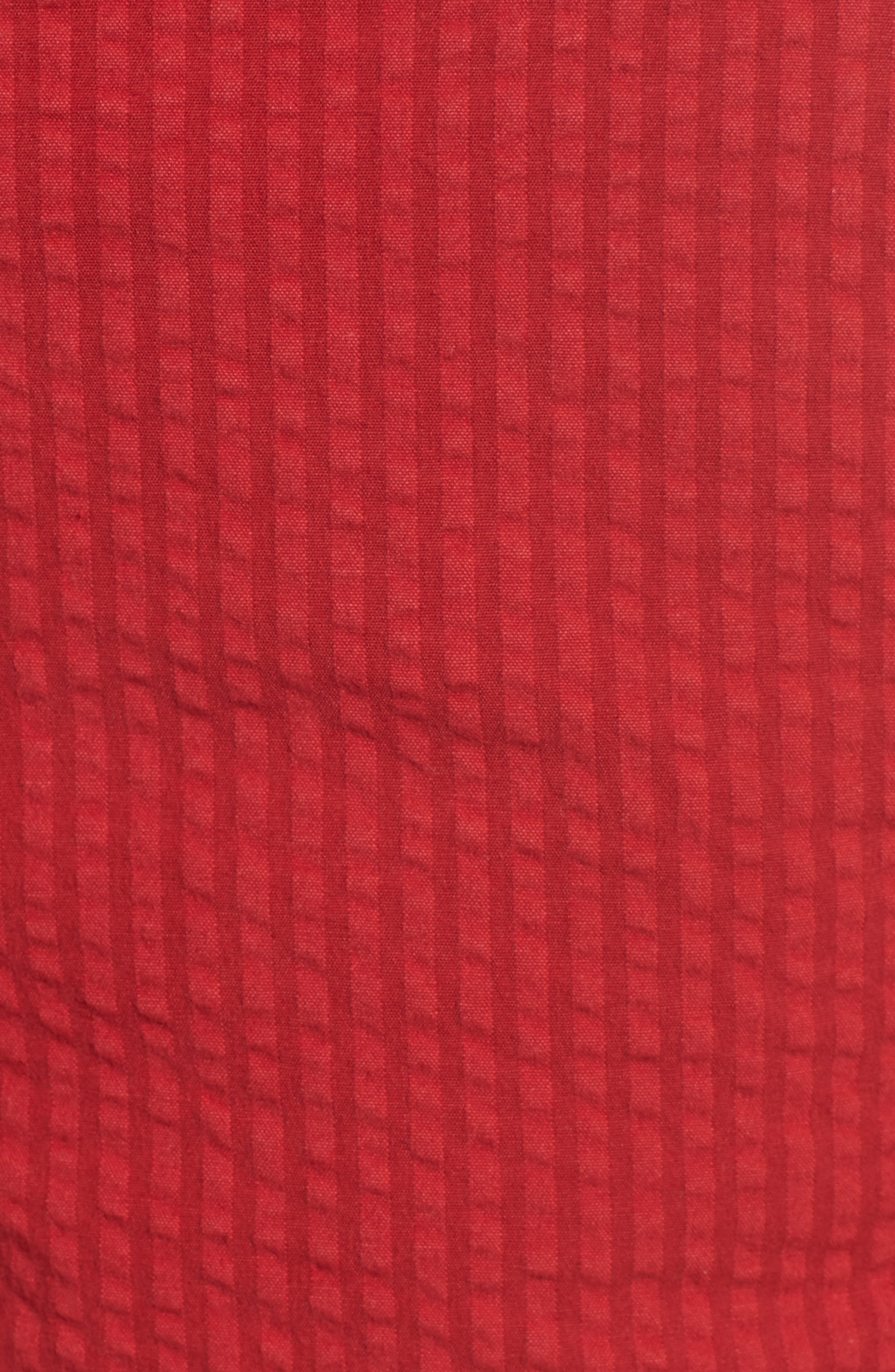 Everyday Seersucker Shorts,                             Alternate thumbnail 5, color,                             Red Velvet