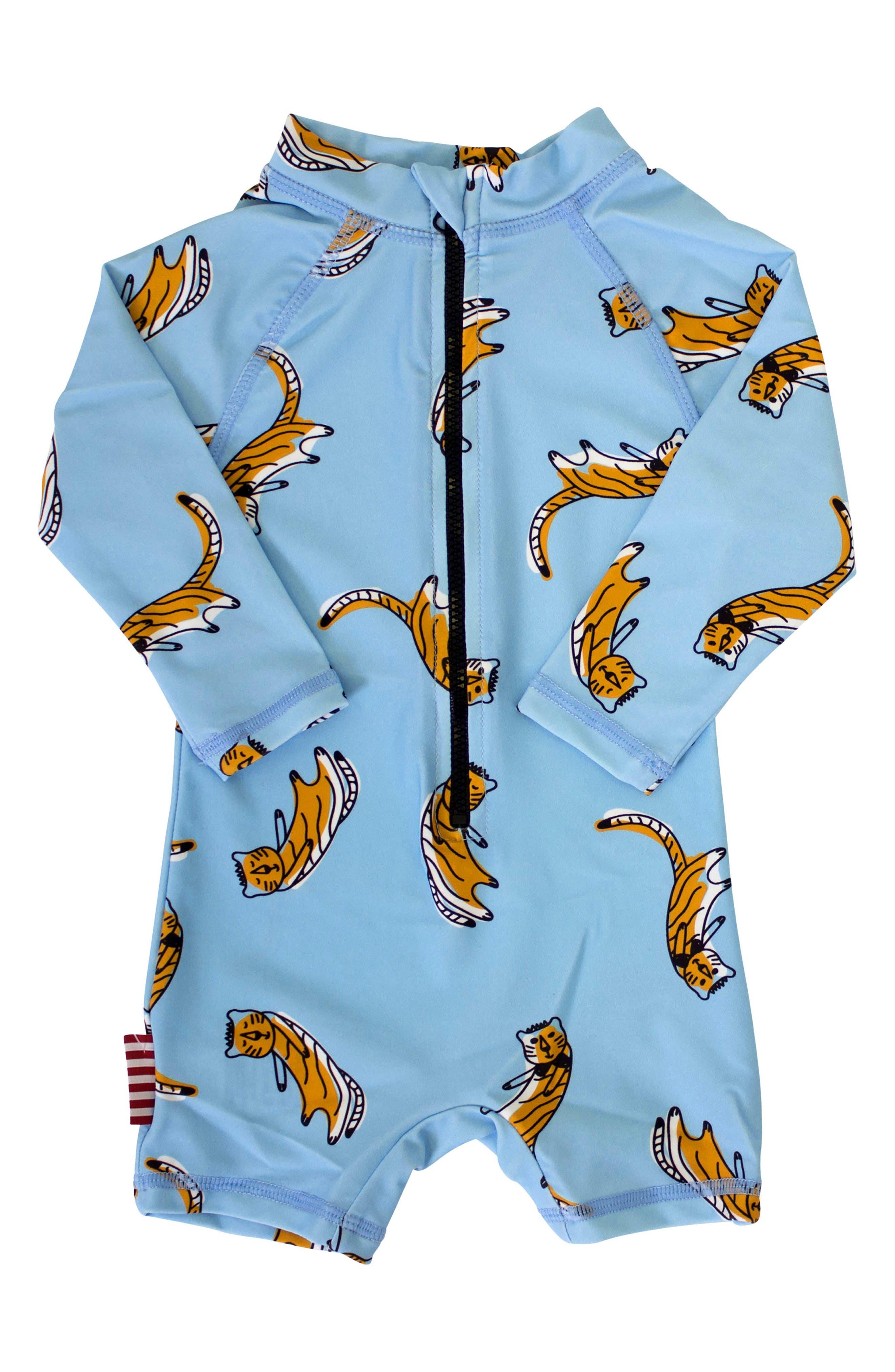 SOOKIbaby Cool Cat One-Piece Rashguard Swimsuit (Baby)