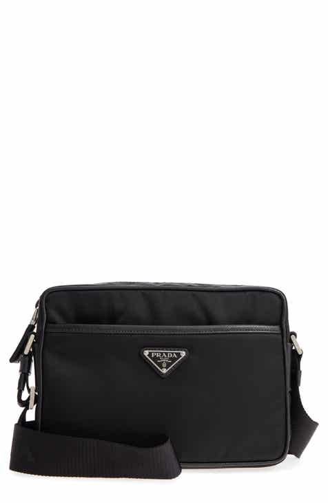 531e819b3 Prada Tessuto Saffiano Leather Messenger Bag