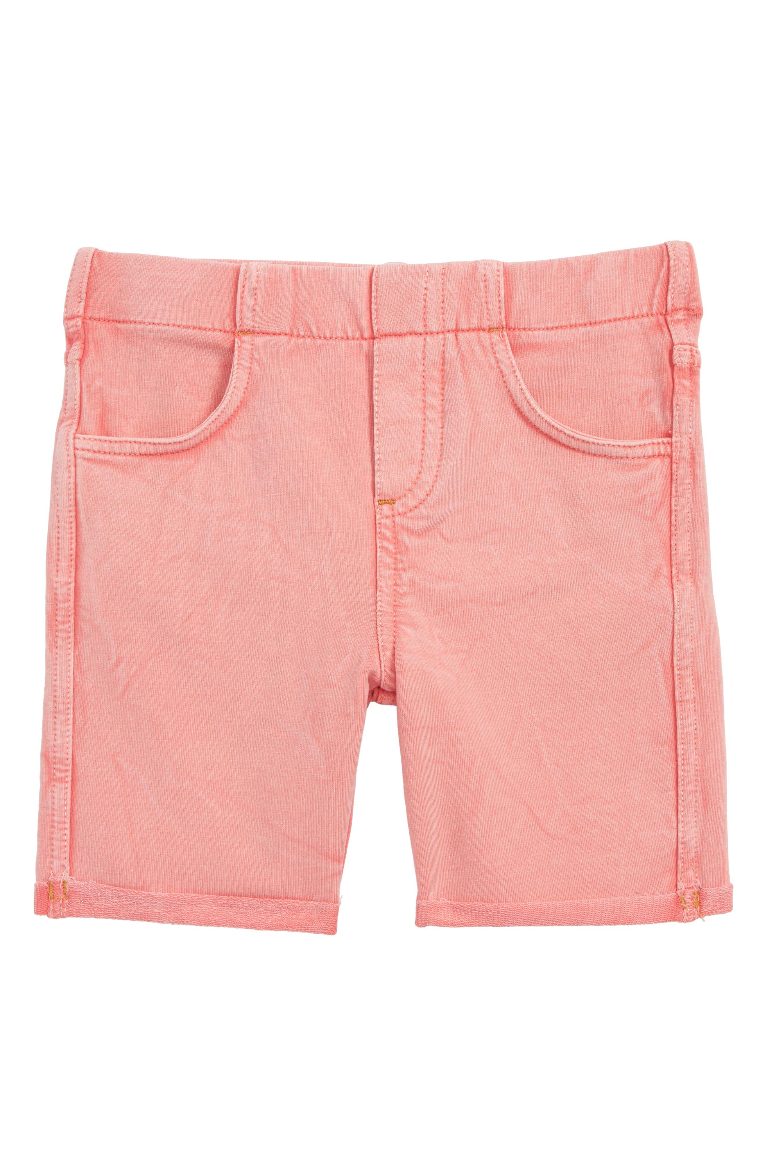'Jenna' Jegging Shorts,                             Main thumbnail 1, color,                             Coral Shell Wash