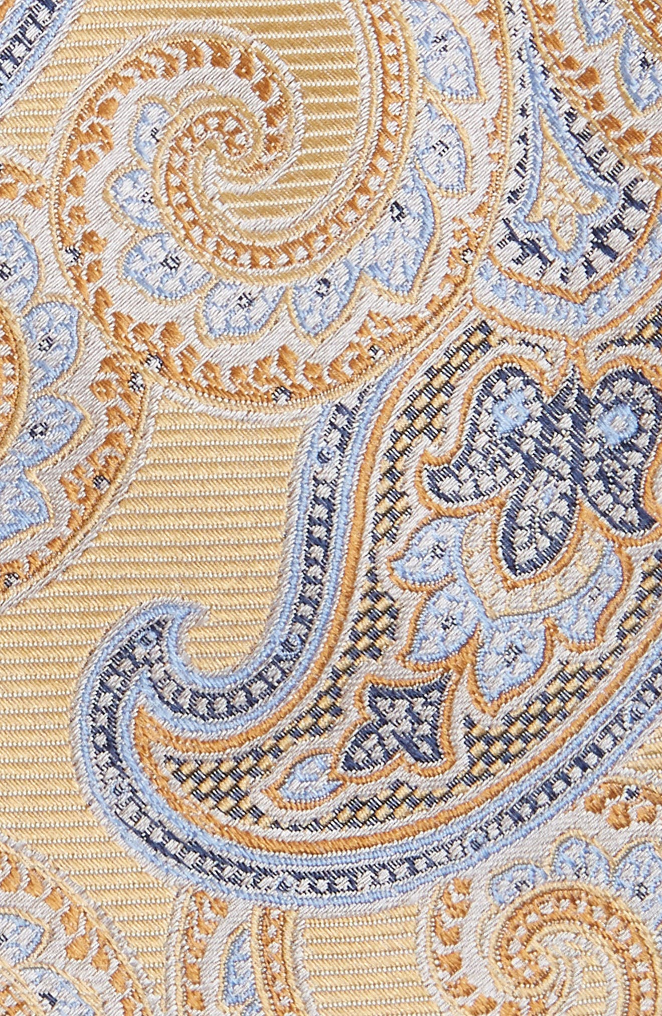Paisley Silk Tie,                             Alternate thumbnail 2, color,                             Yellow