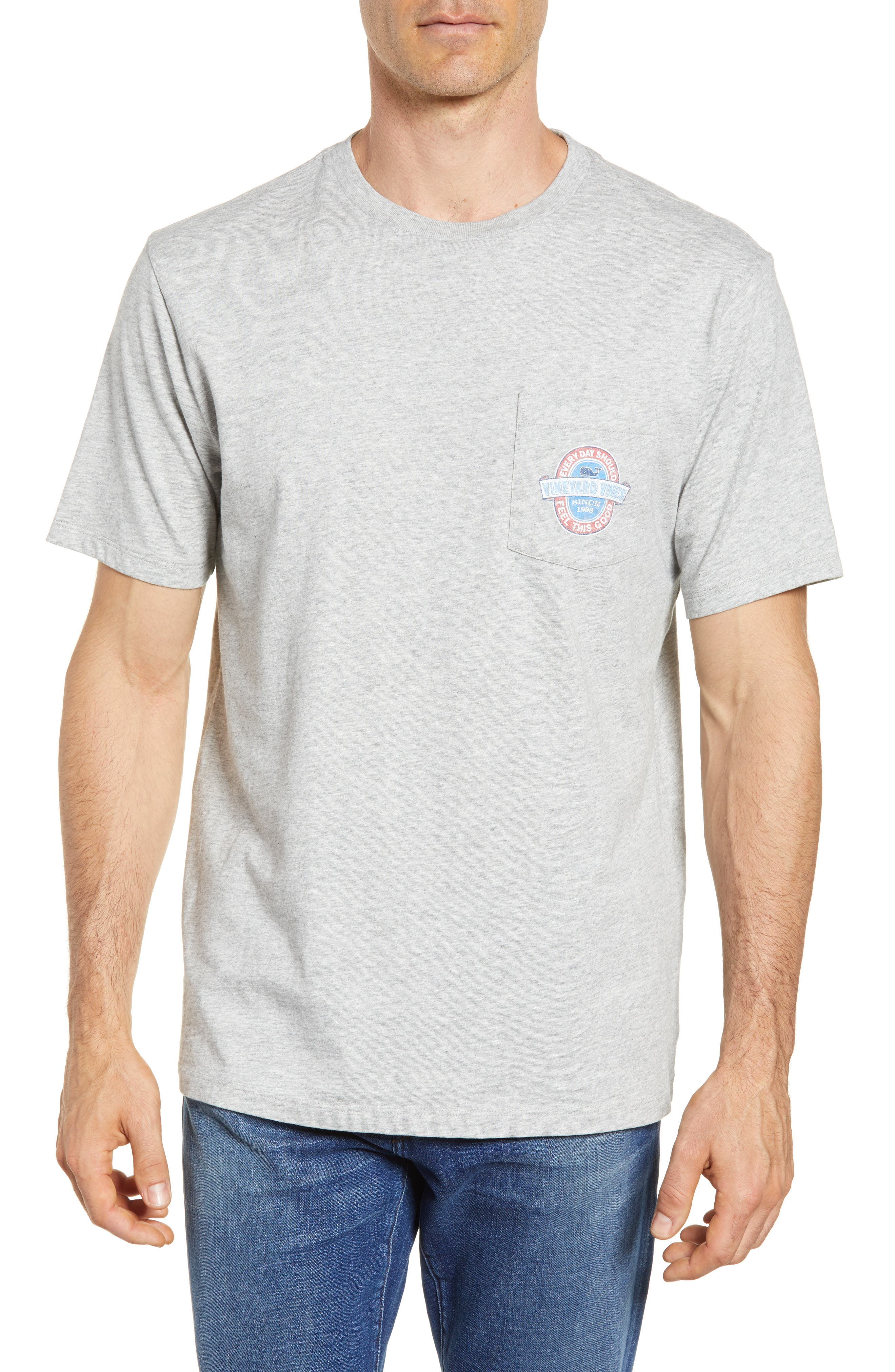 Everyday Pocket T-Shirt,                         Main,                         color, Grey Heather