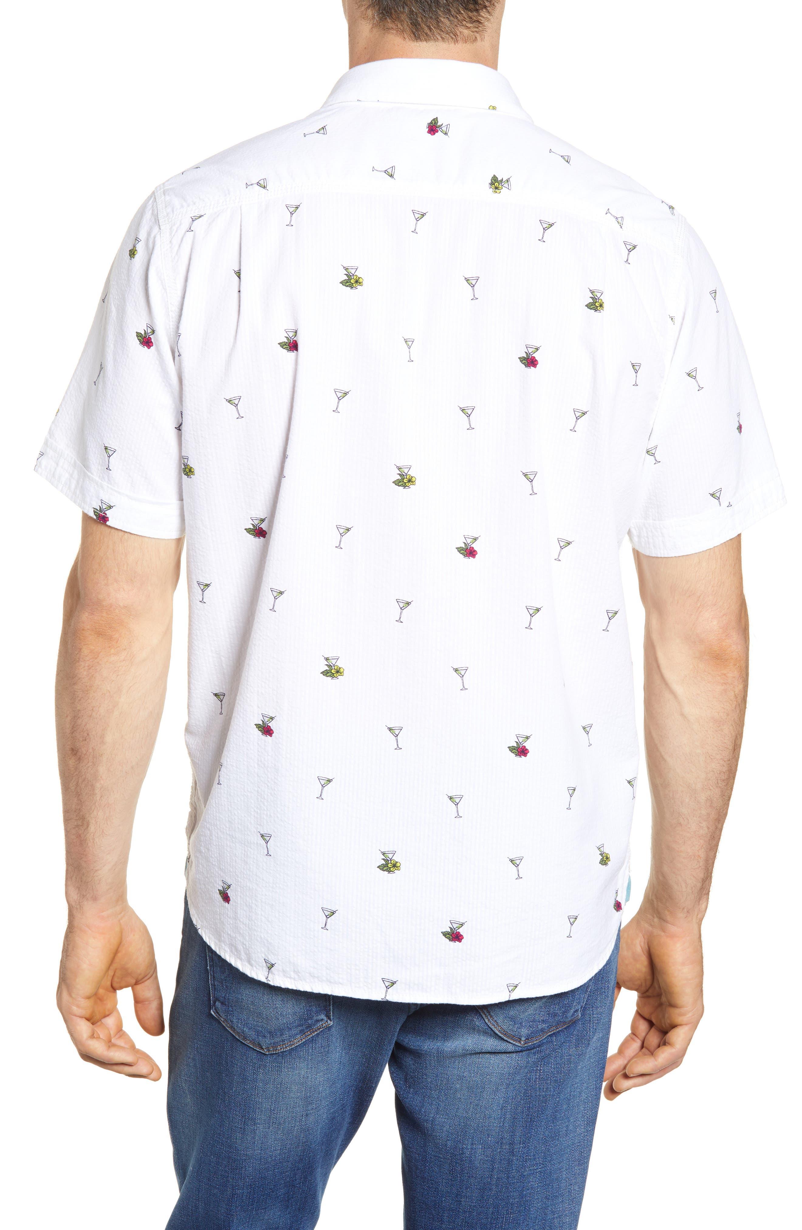 Mix Master Seersucker Shirt,                             Alternate thumbnail 3, color,                             Continental