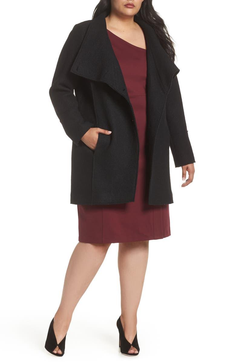 Boiled Wool-Blend Asymmetrical Coat