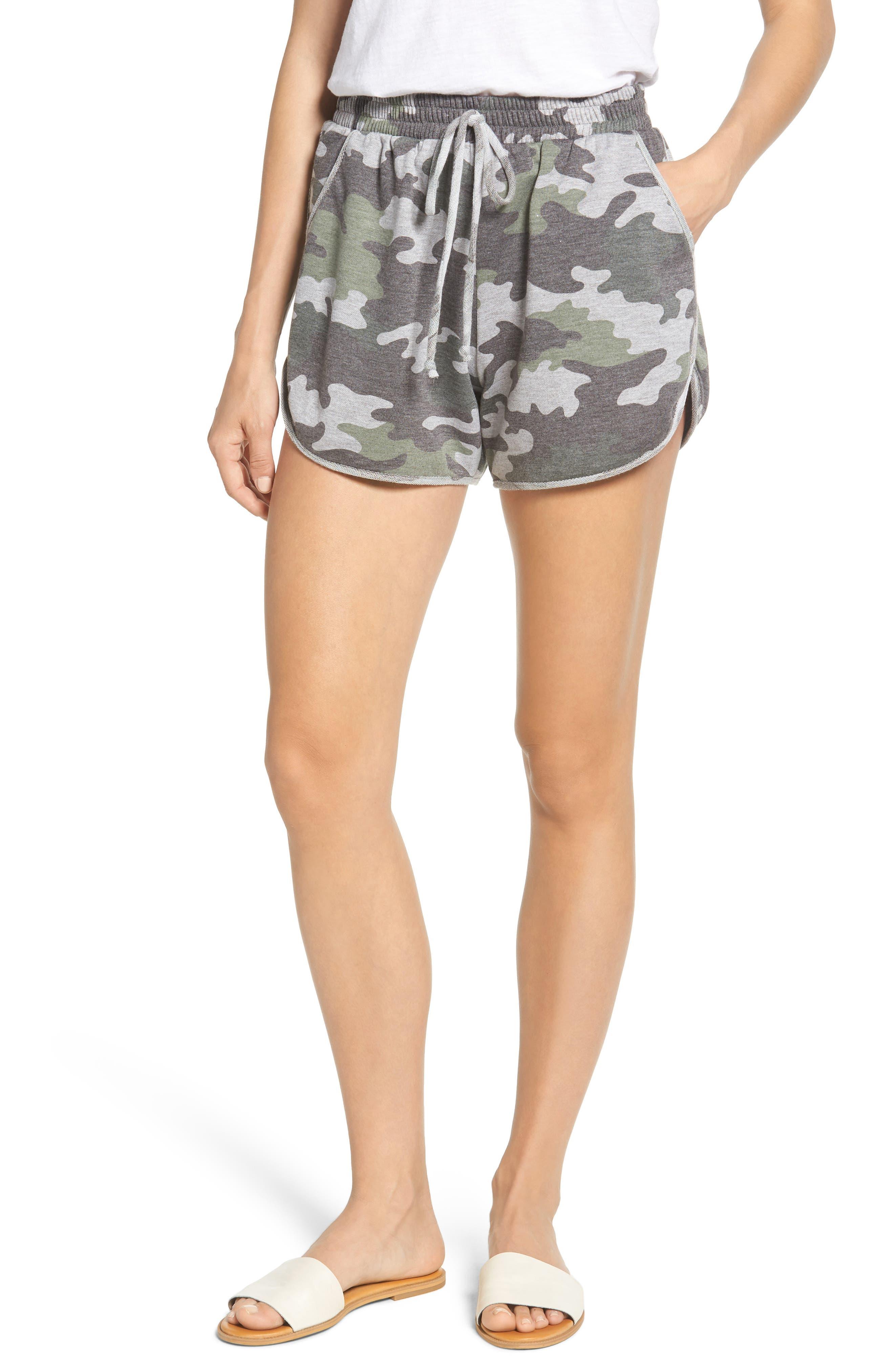 Camo Knit Shorts by Caslon®