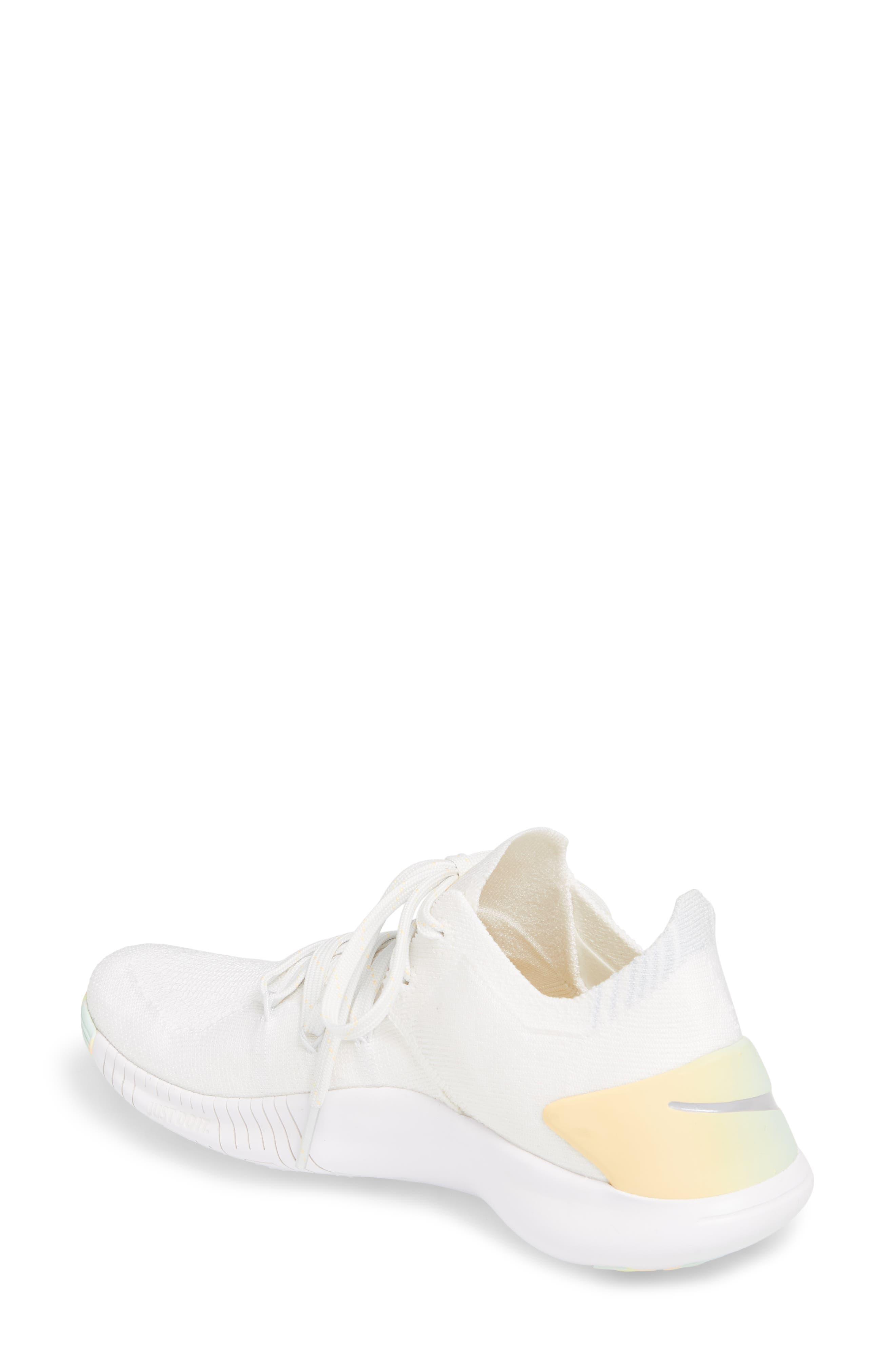 Free TR Flyknit 3 Rise Training Shoe,                             Alternate thumbnail 2, color,                             White/ Summit White