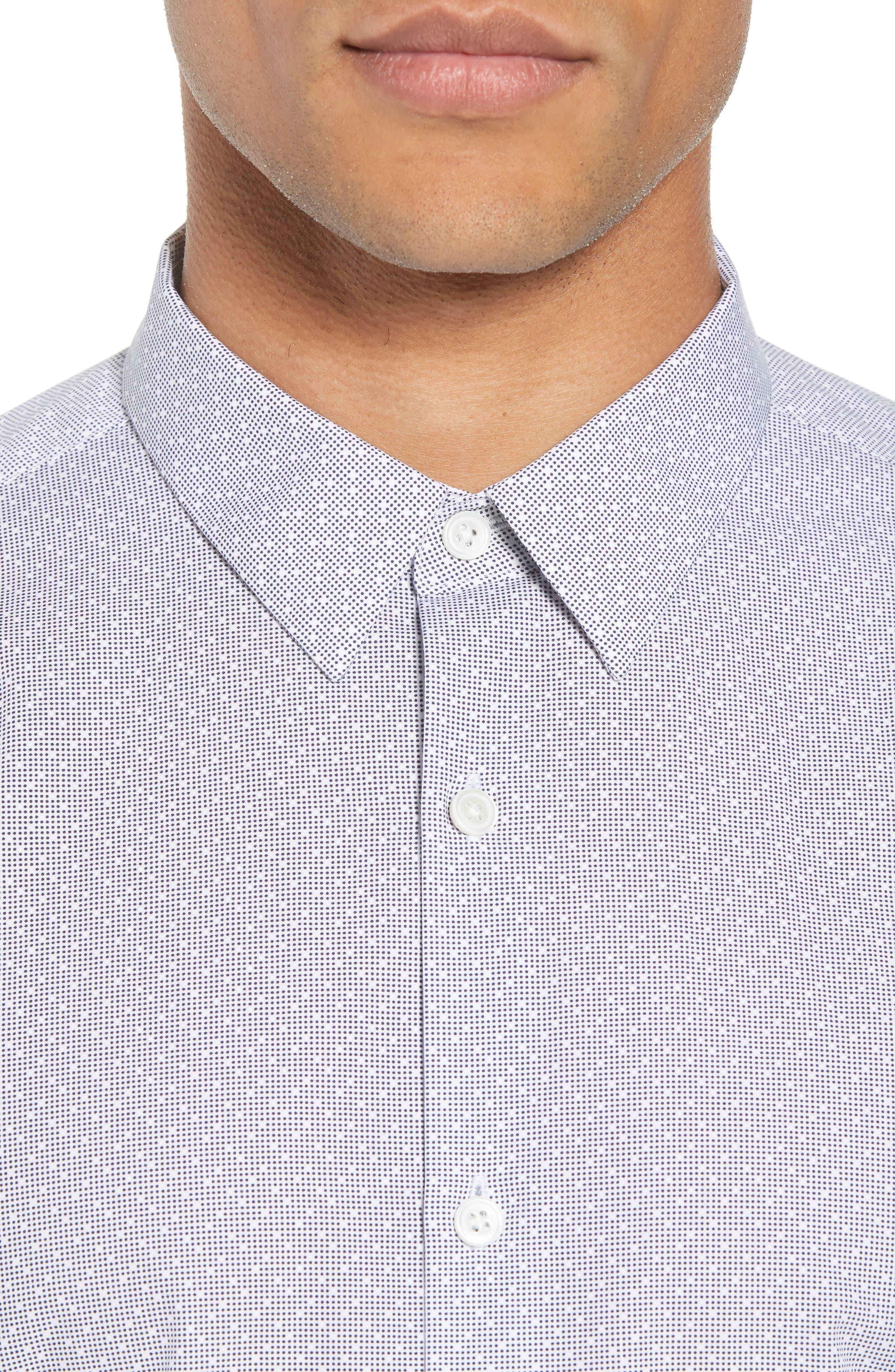 Murray Trim Fit Pixel Print Sport Shirt,                             Alternate thumbnail 2, color,                             Eclipse Multi