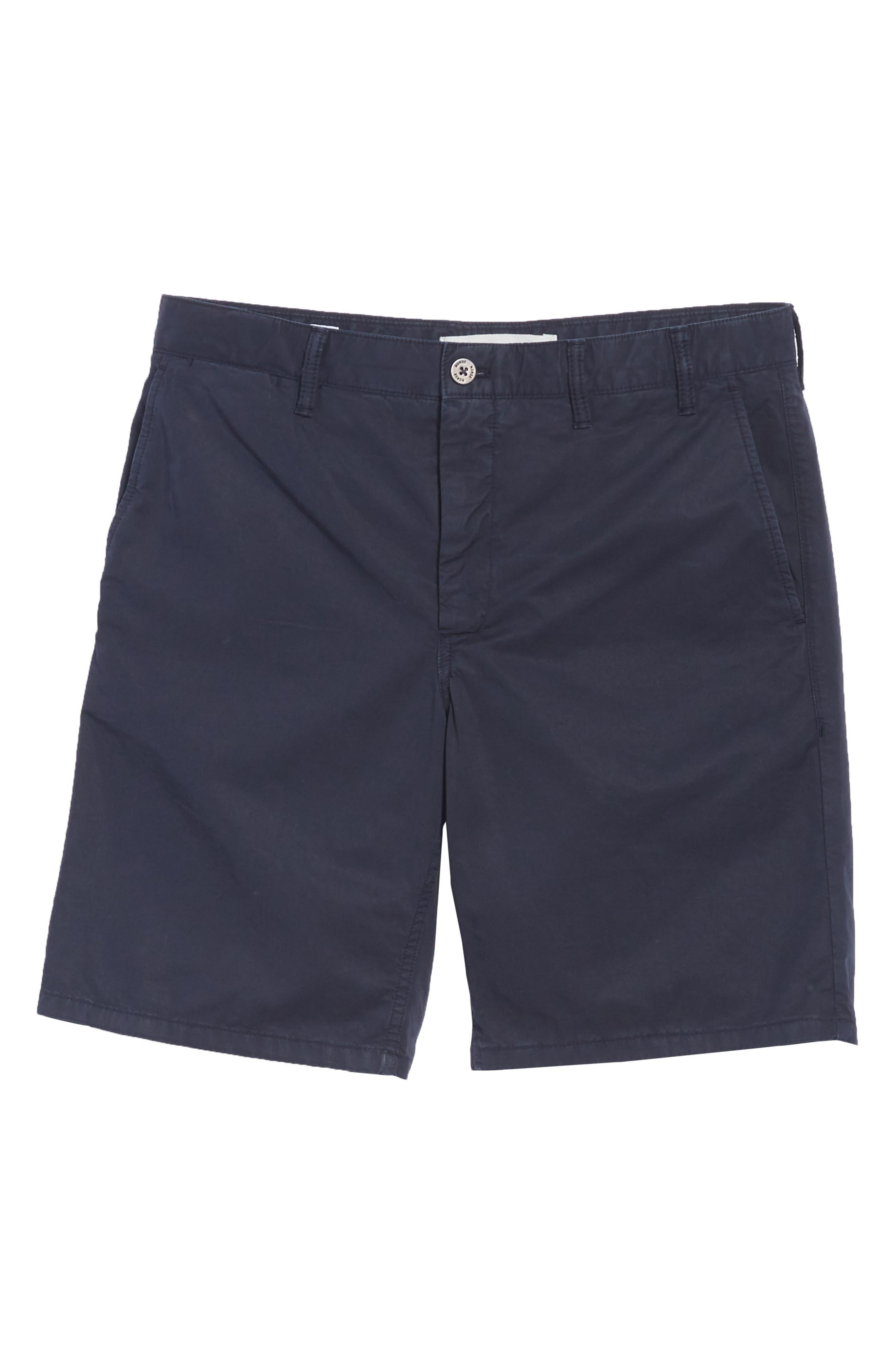Aros Twill Shorts,                             Alternate thumbnail 6, color,                             Dark Navy