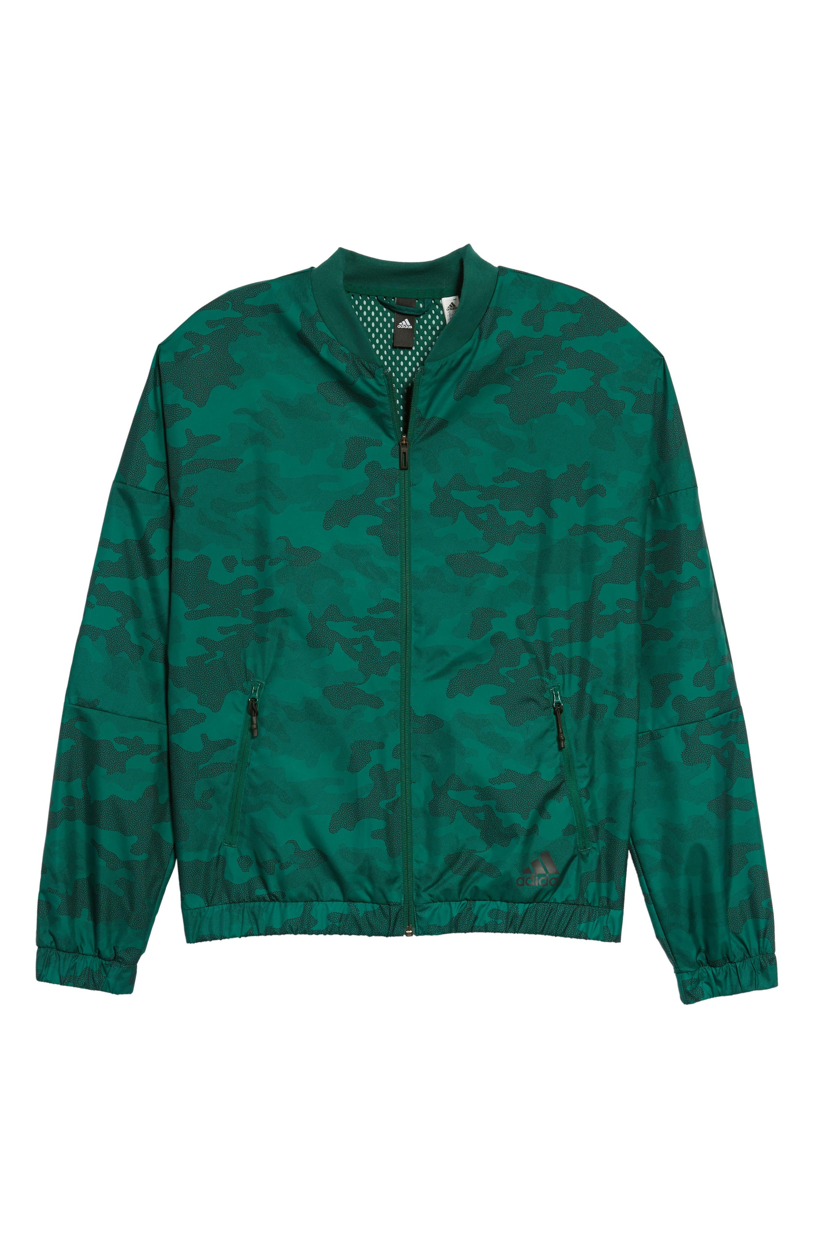 Regular Fit Track Jacket,                             Alternate thumbnail 6, color,                             Collegiate Green/ Black