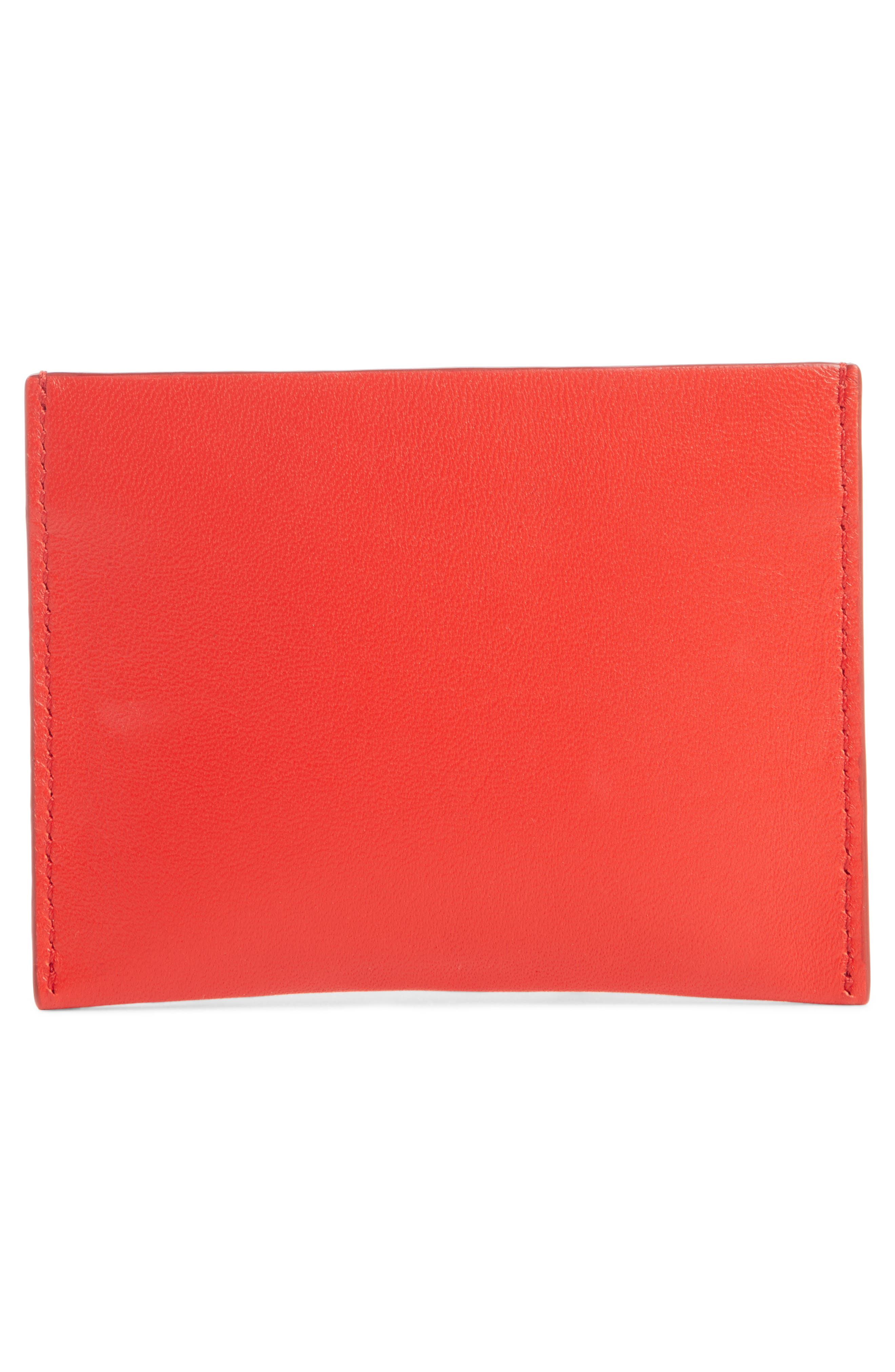 Embossed 4G Leather Card Case,                             Alternate thumbnail 2, color,                             Red