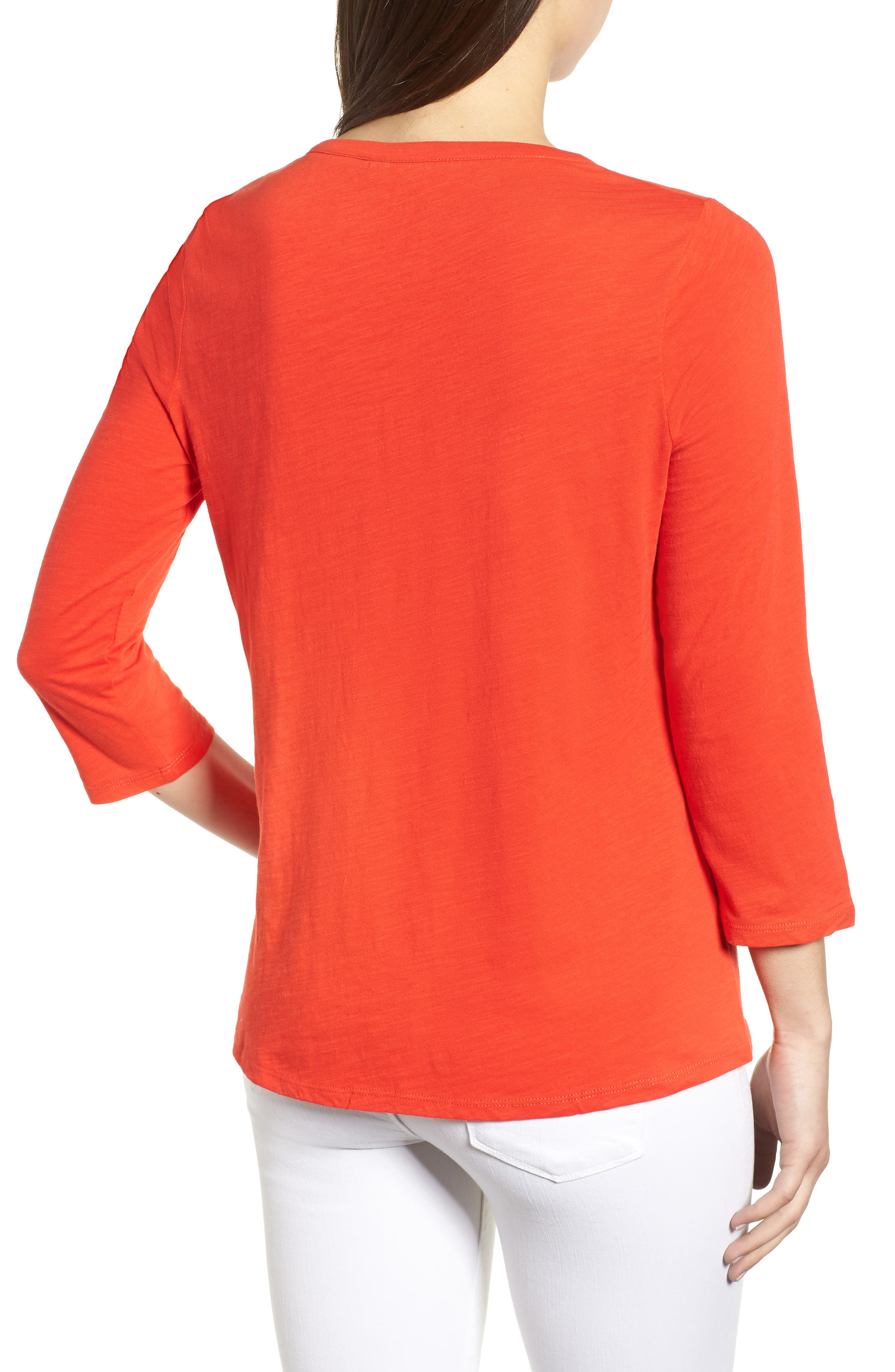 Trusty Henley Tee,                             Alternate thumbnail 3, color,                             Red Pop